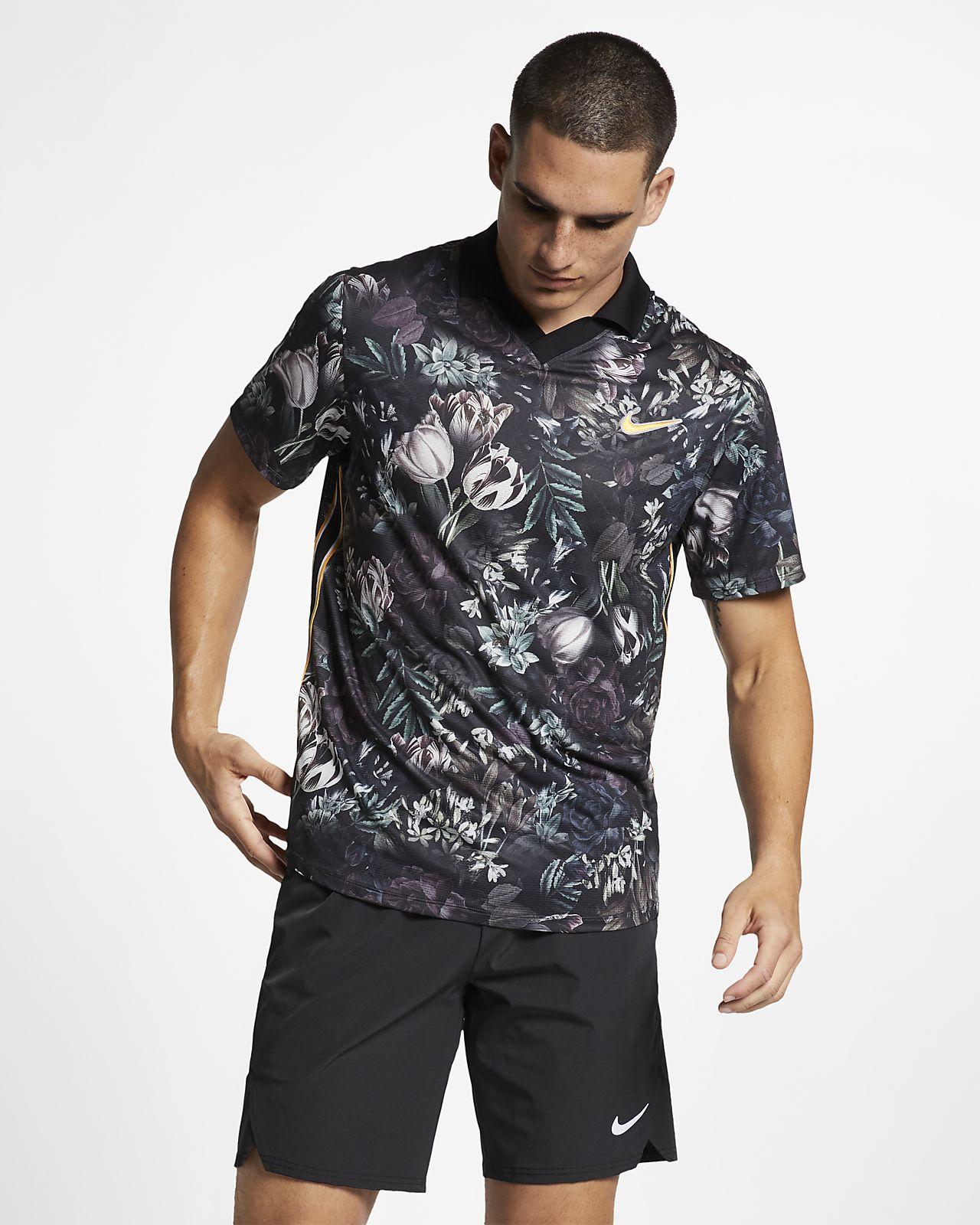 NikeCourt Dri-FIT Slam Erkek Tenis Polo Üst