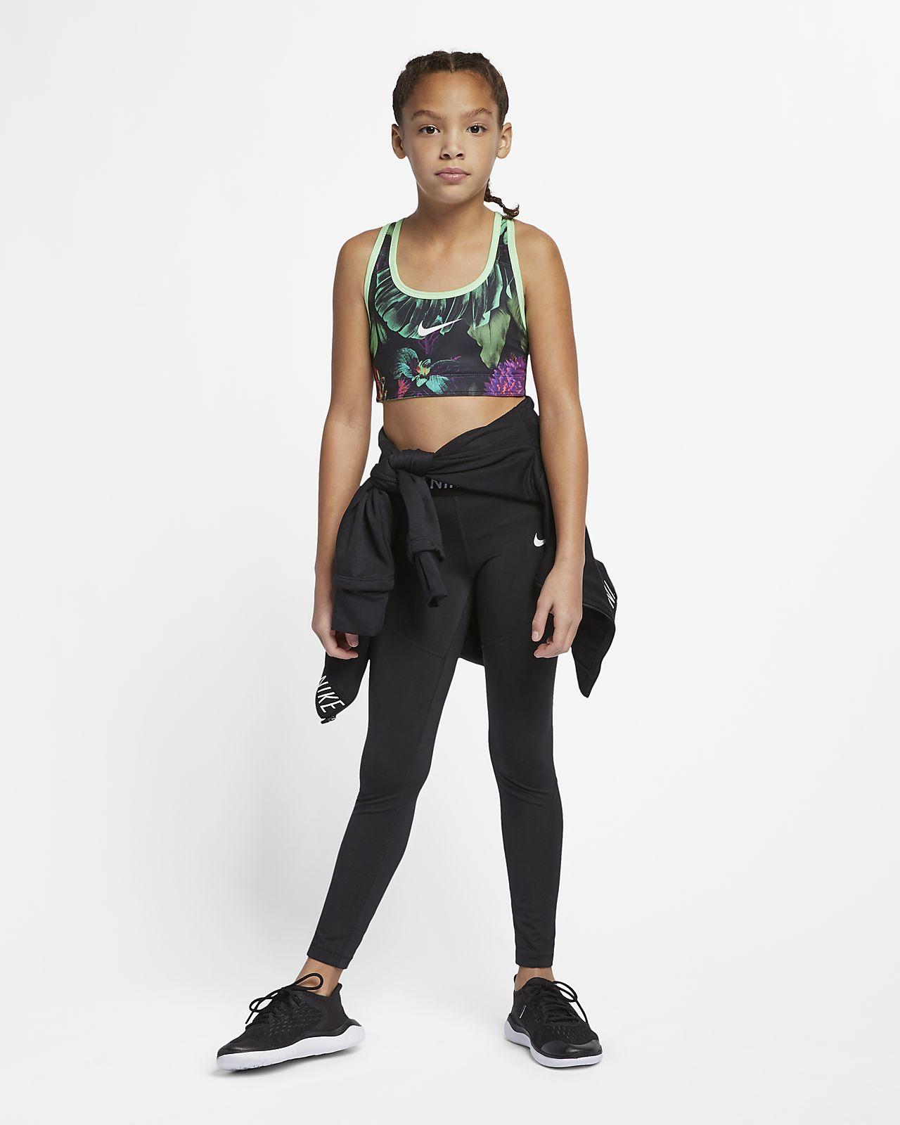 407bdfe87a86c ... Nike Classic Older Kids  (Girls ) Reversible Printed Floral Sports Bra