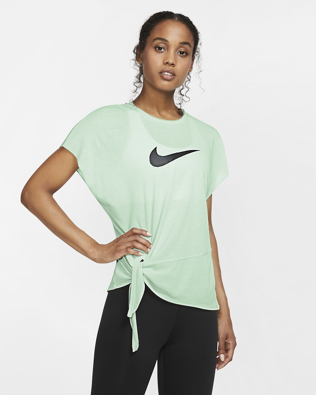Nike Dri-FIT Kurzarm-Trainingsoberteil für Damen