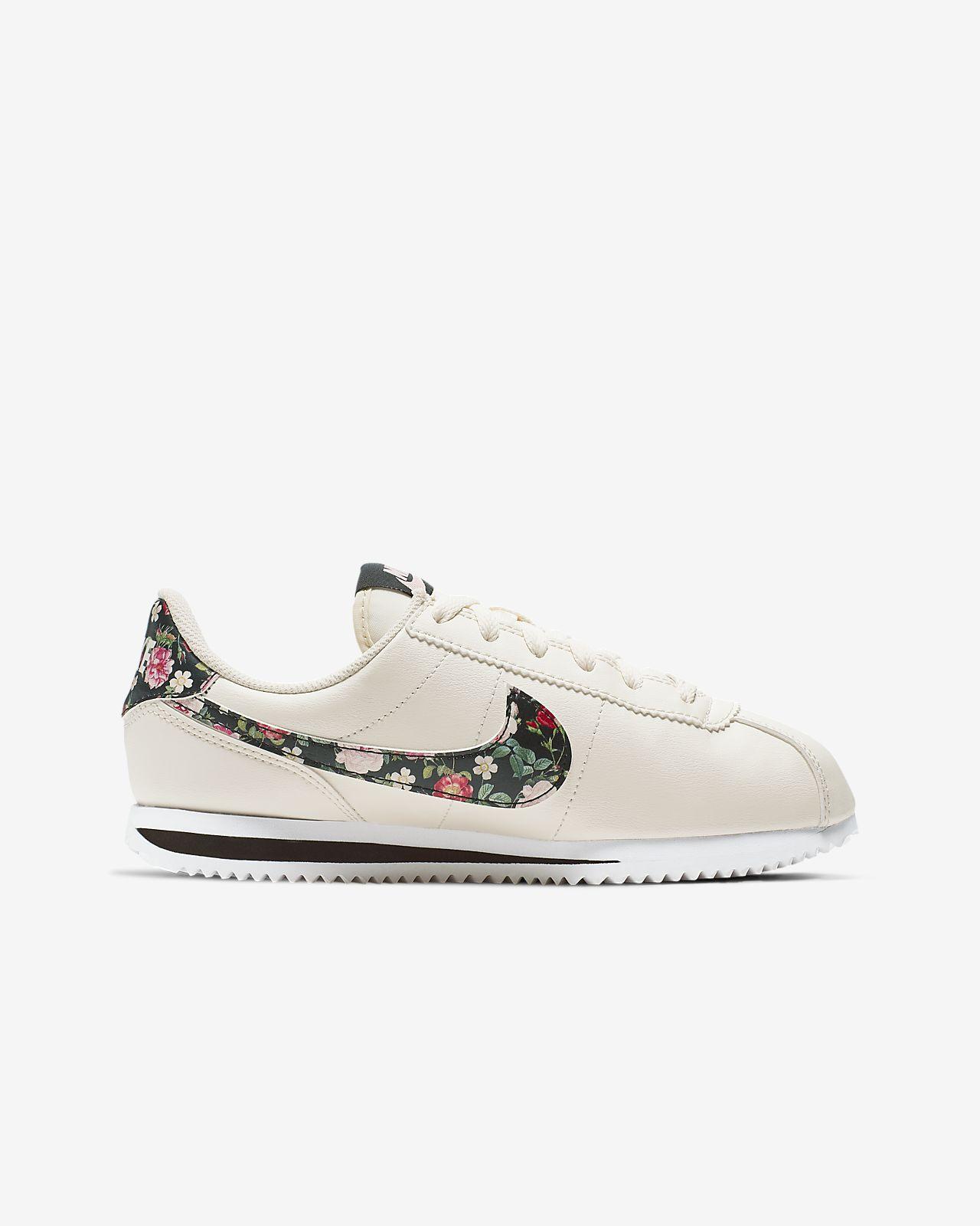 Ältere Für Schuh Cortez Vintage Kinder Basic Nike Floral kPXiZOu