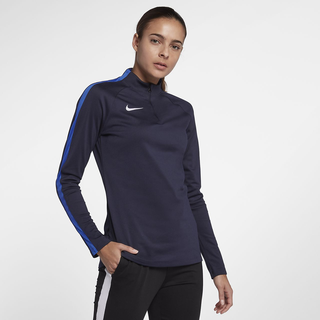 Haut de football à manches longues Nike Dri-FIT Academy Drill pour Femme