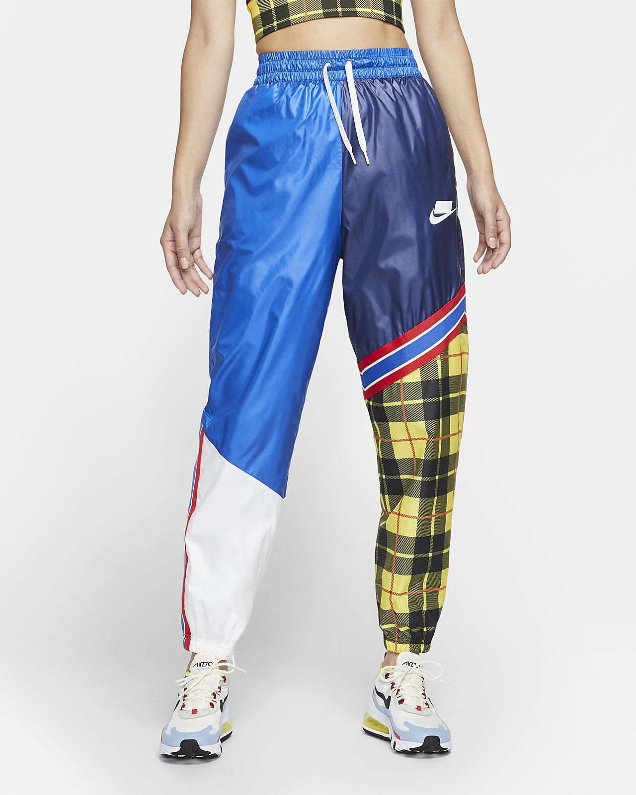 Pantalones tejidos a cuadros para mujer Nike Sportswear NSW