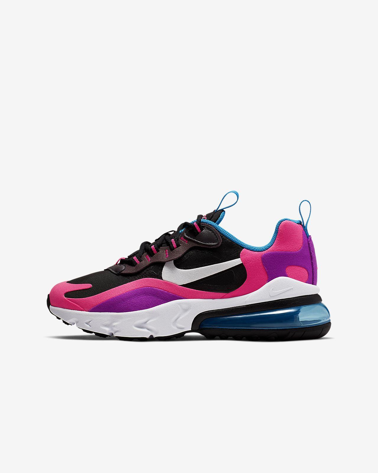 Nike Air Max 270 React (GS)大童运动童鞋