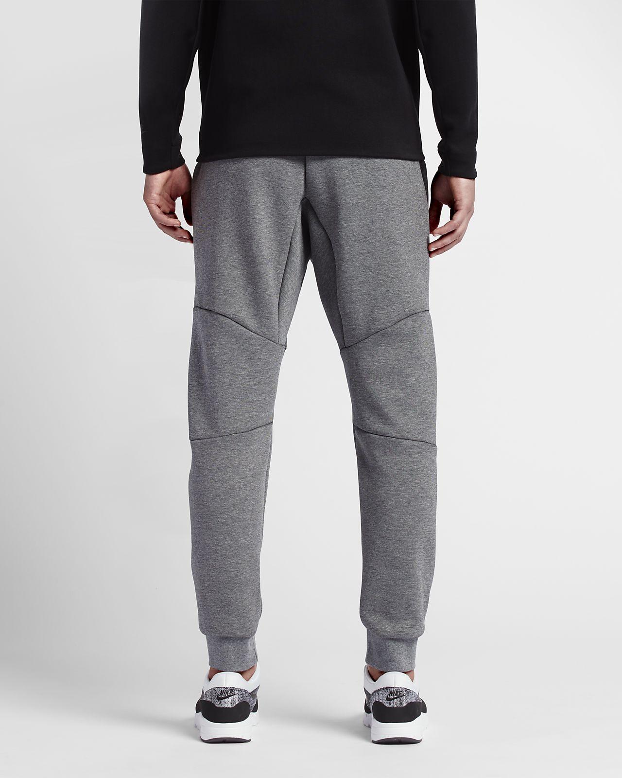 Nike Mens Pants - Nike Air Jordan Fleece Dark Grey Heather/Black H27l2650