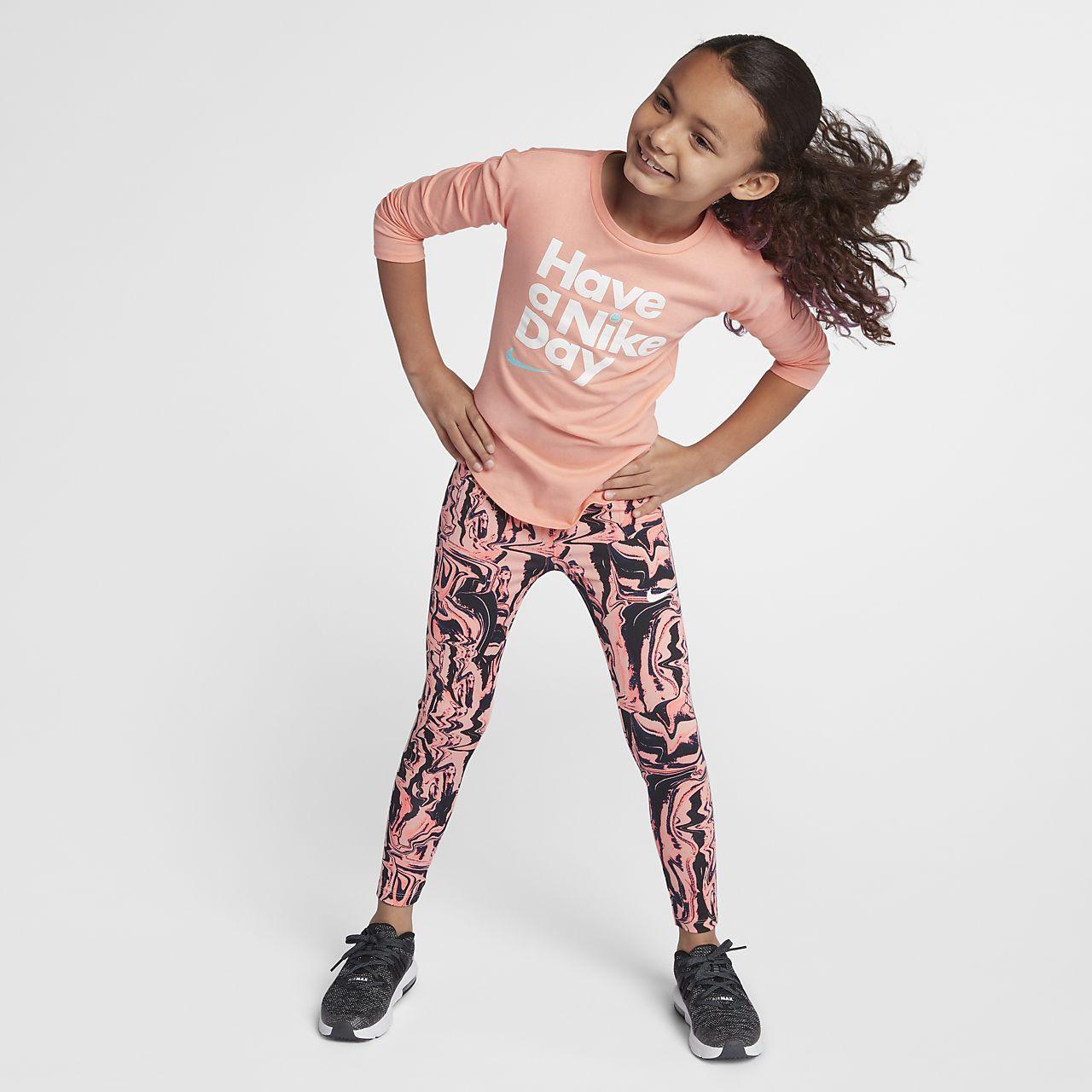 nike dri-fit sport essentials little kids' (girls') printed leggings