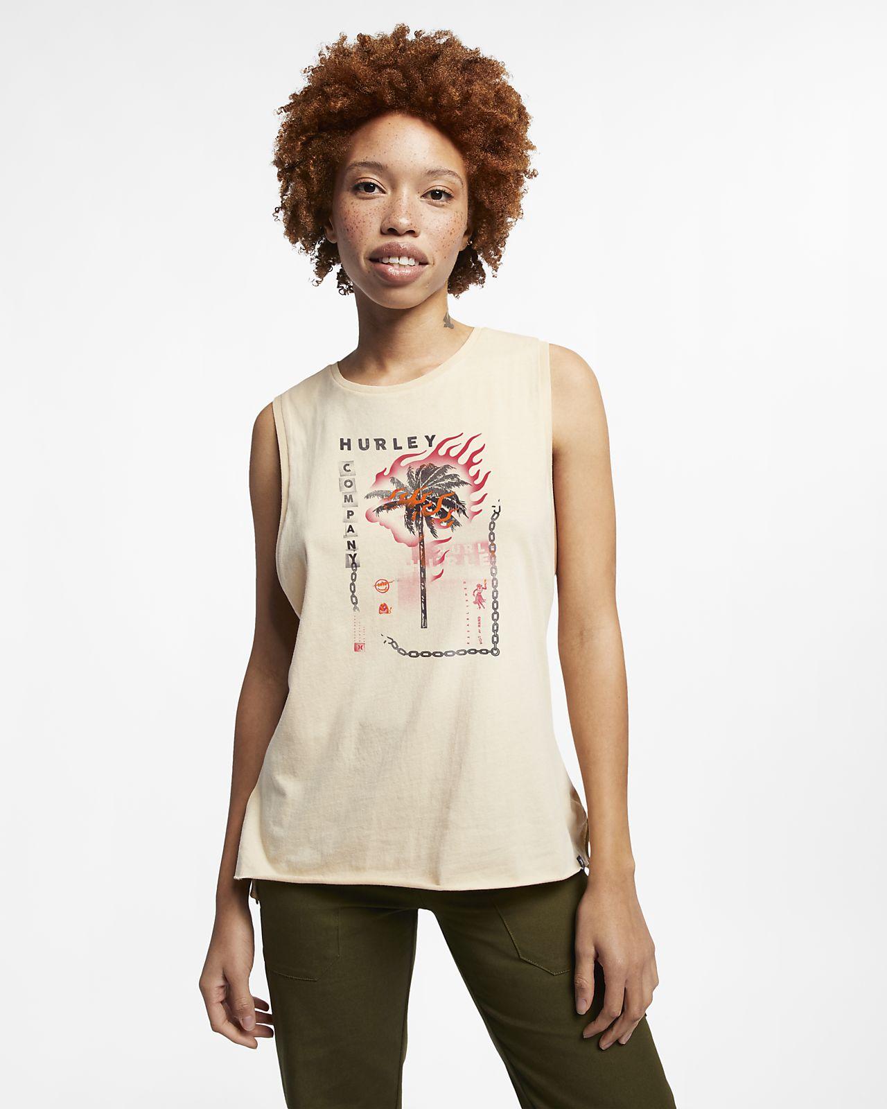 Koszulka bez rękawów Hurley Burn Baby – damska