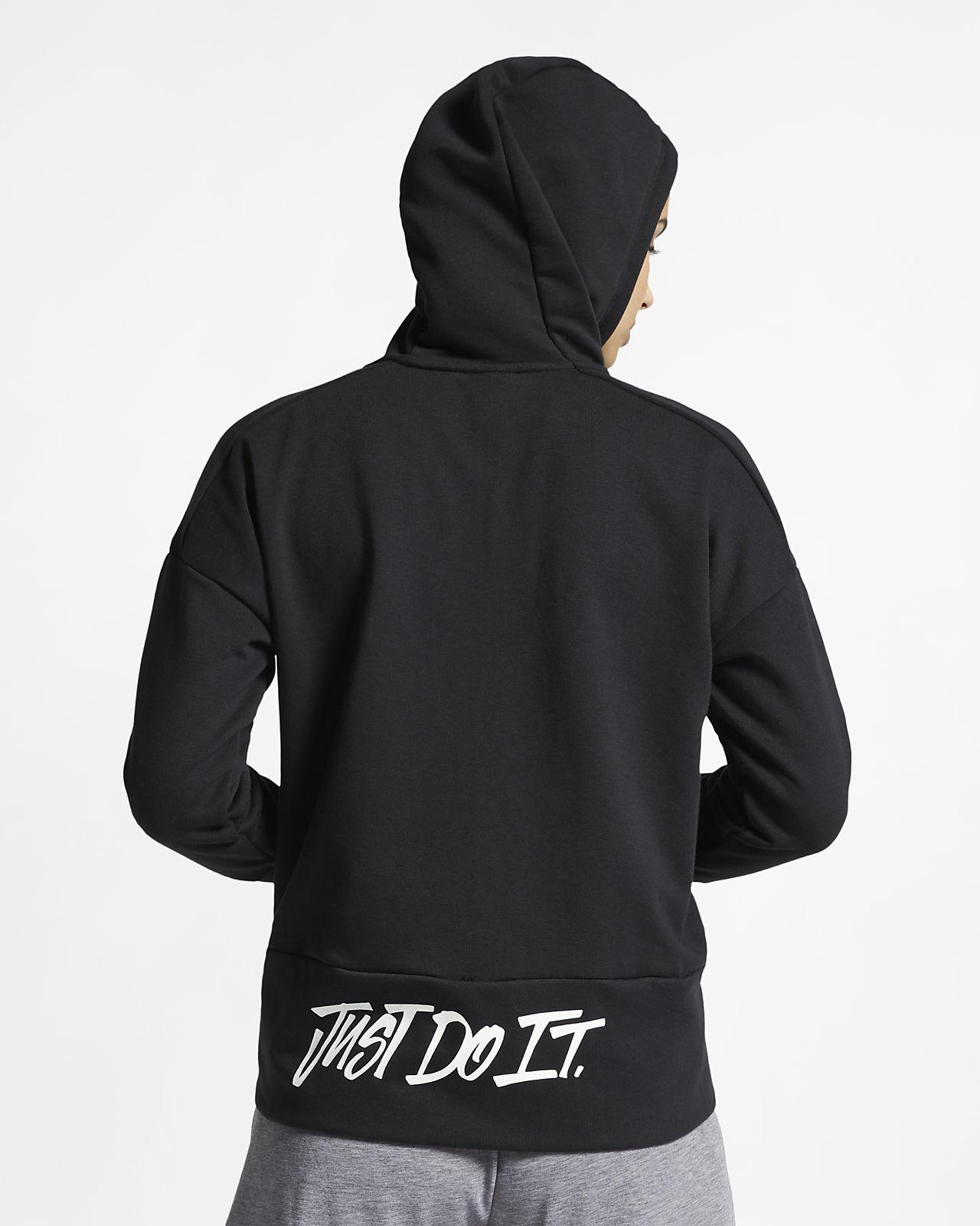 brand new 0dd78 c3698 Nike Dri-FIT langärmliger Damen-Hoodie mit durchgehendem Reißverschluss