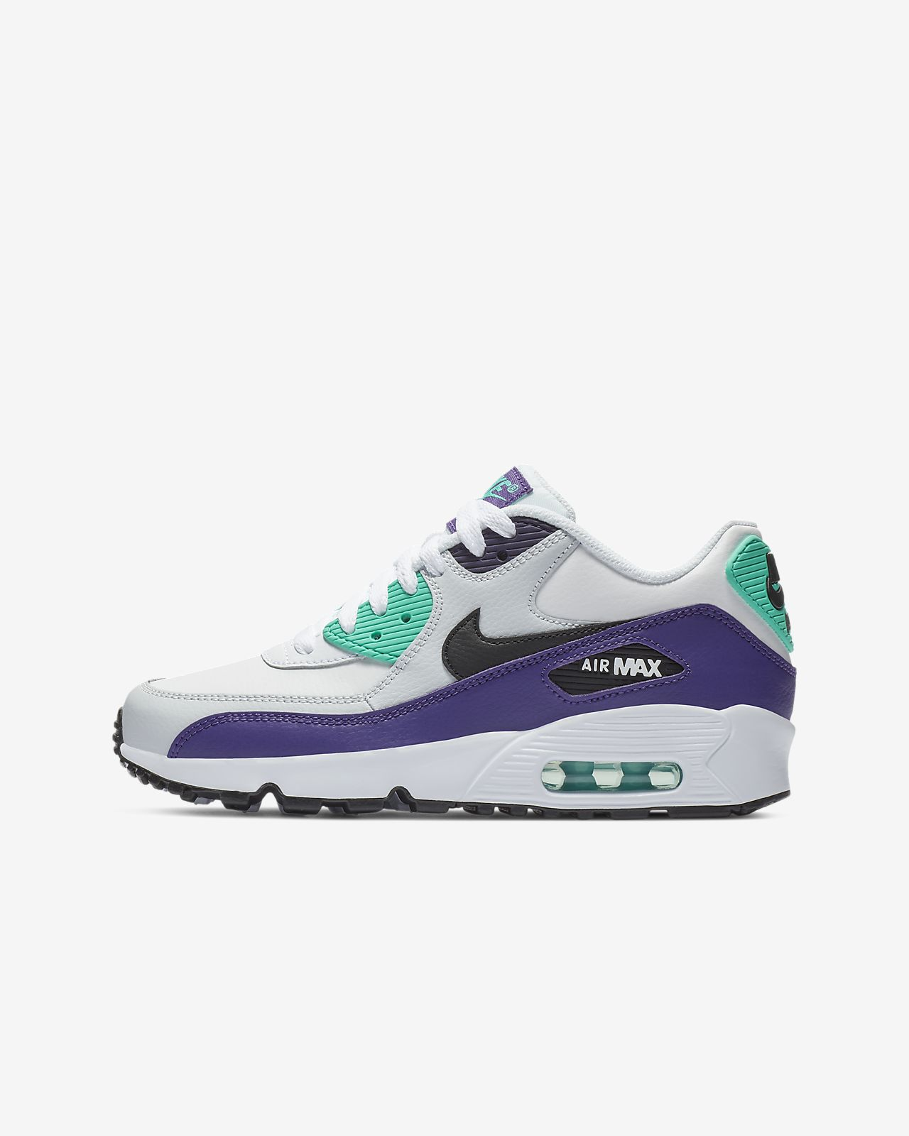 reputable site 88542 ba7c8 ... Nike Air Max 90 Leather Older Kids  Shoe