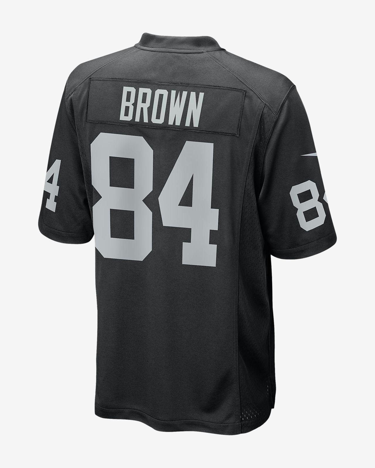 733cf8755 NFL Oakland Raiders (Antonio Brown) Men s Game Football Jersey. Nike.com