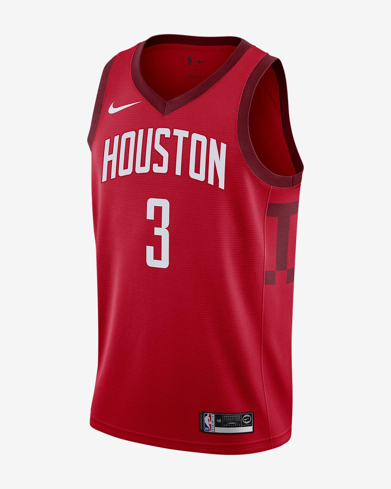 Camiseta conectada Nike NBA para hombre Chris Paul Earned Statement Edition Swingman (Houston Rockets)