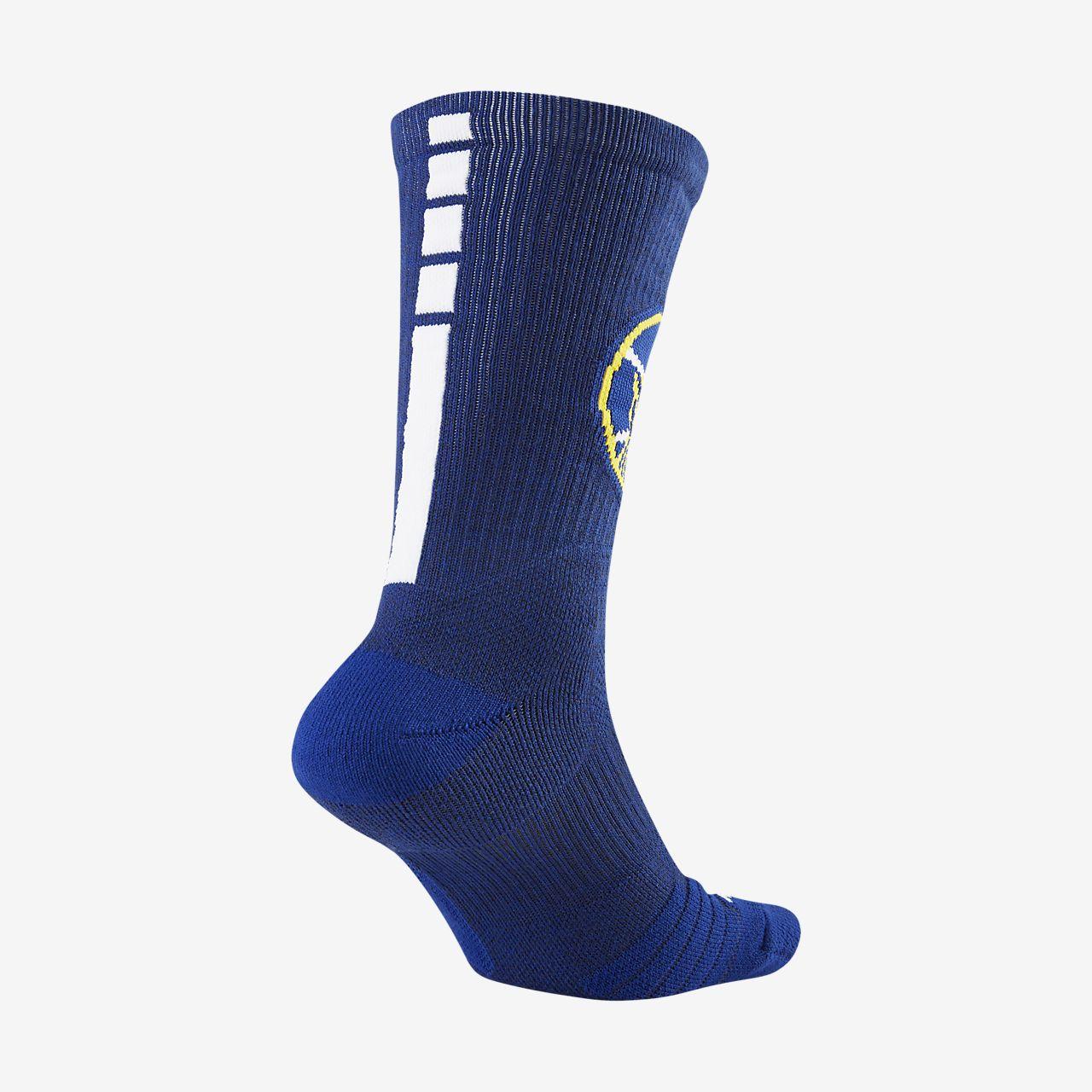 ถุงเท้าข้อยาว NBA Golden State Warriors Nike Elite