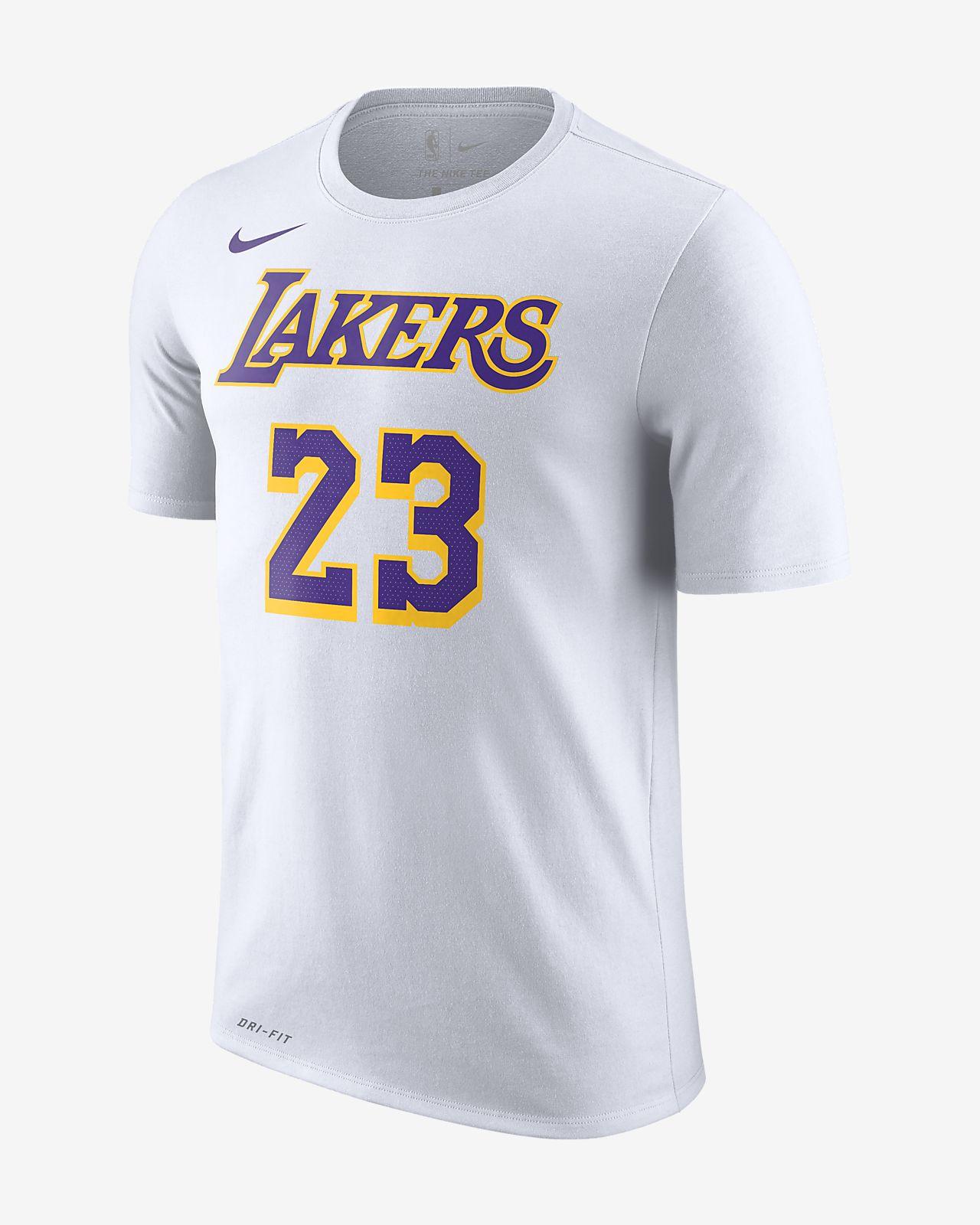 1b919fd645d Los Angeles Lakers Nike Dri-FIT Men s NBA T-Shirt. Nike.com GB