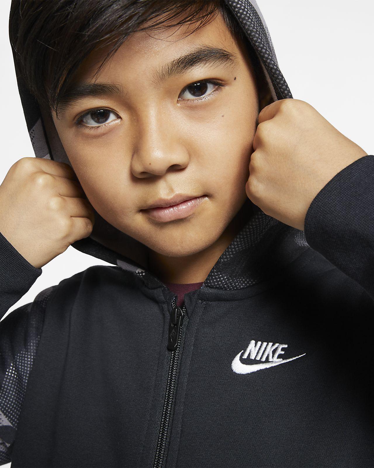 Felpa con cappuccio e zip a tutta lunghezza Nike Sportswear Club Ragazzo