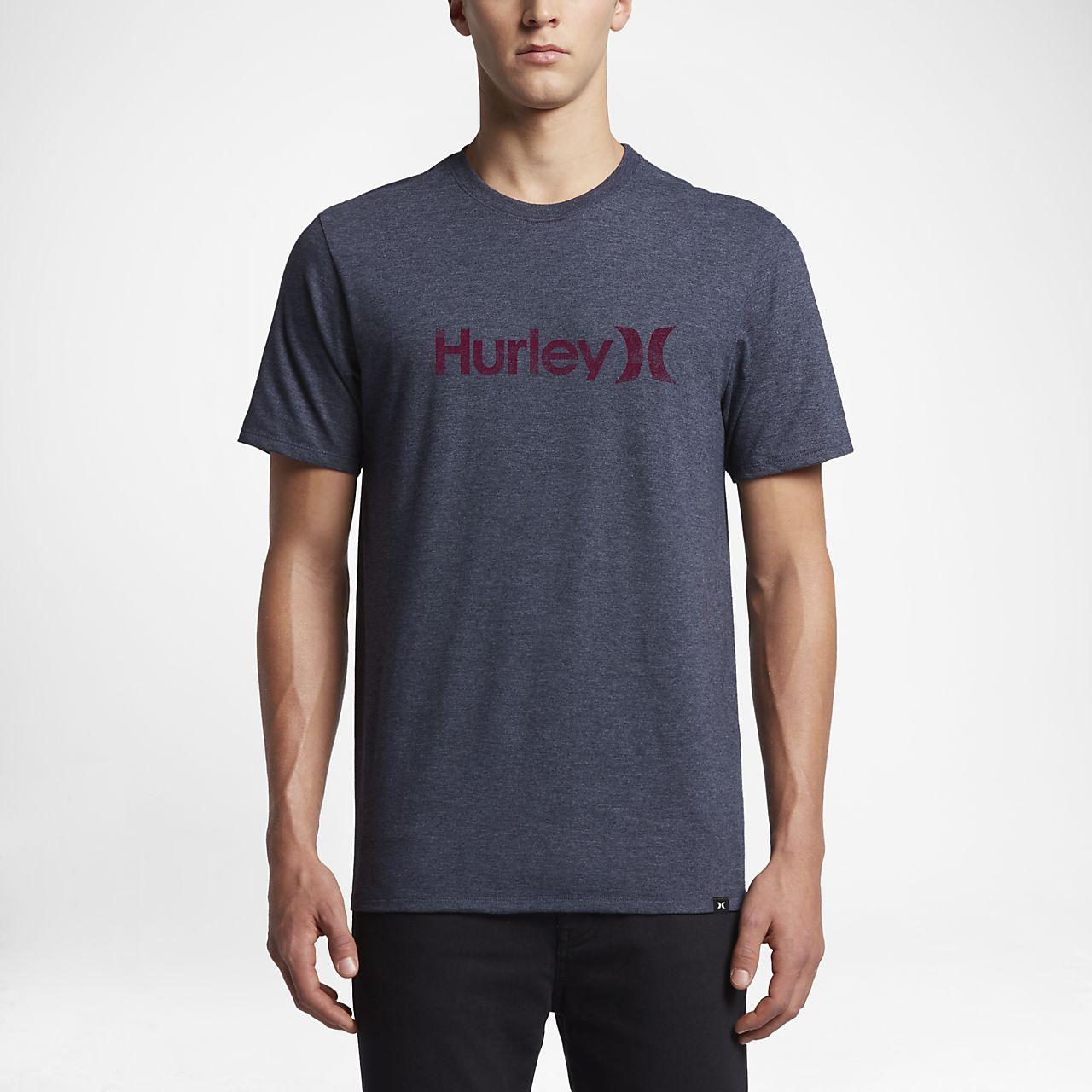 Hurley Icon Push Through Men's T-Shirts Black Heather