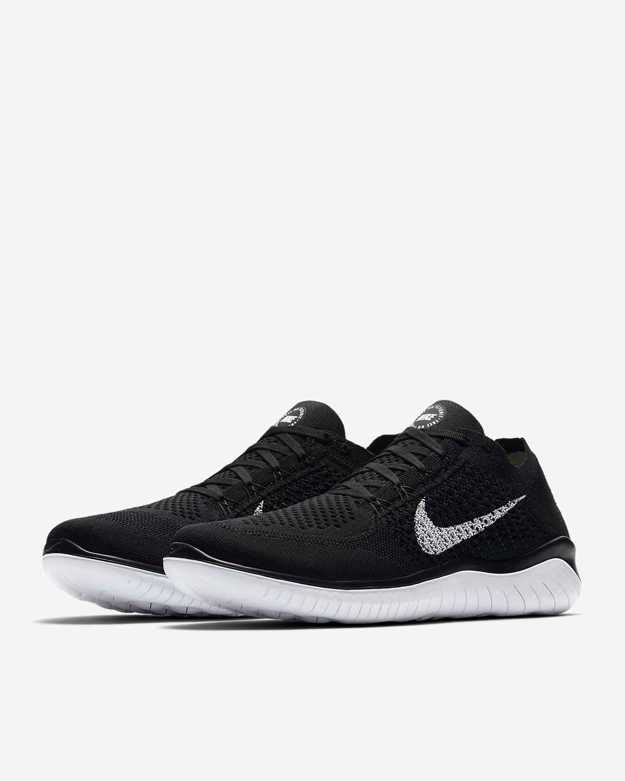 Nike Free RN Flyknit 2018 Mens Running Pure Platinum Black Anthracite 942838 101