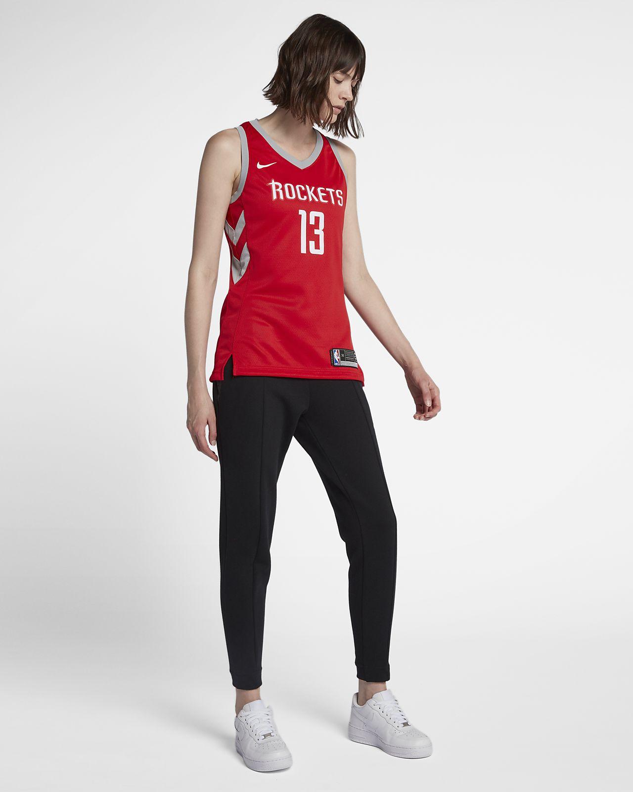 best service ea6e4 684aa James Harden Icon Edition Swingman (Houston Rockets) Women's Nike NBA  Connected Jersey