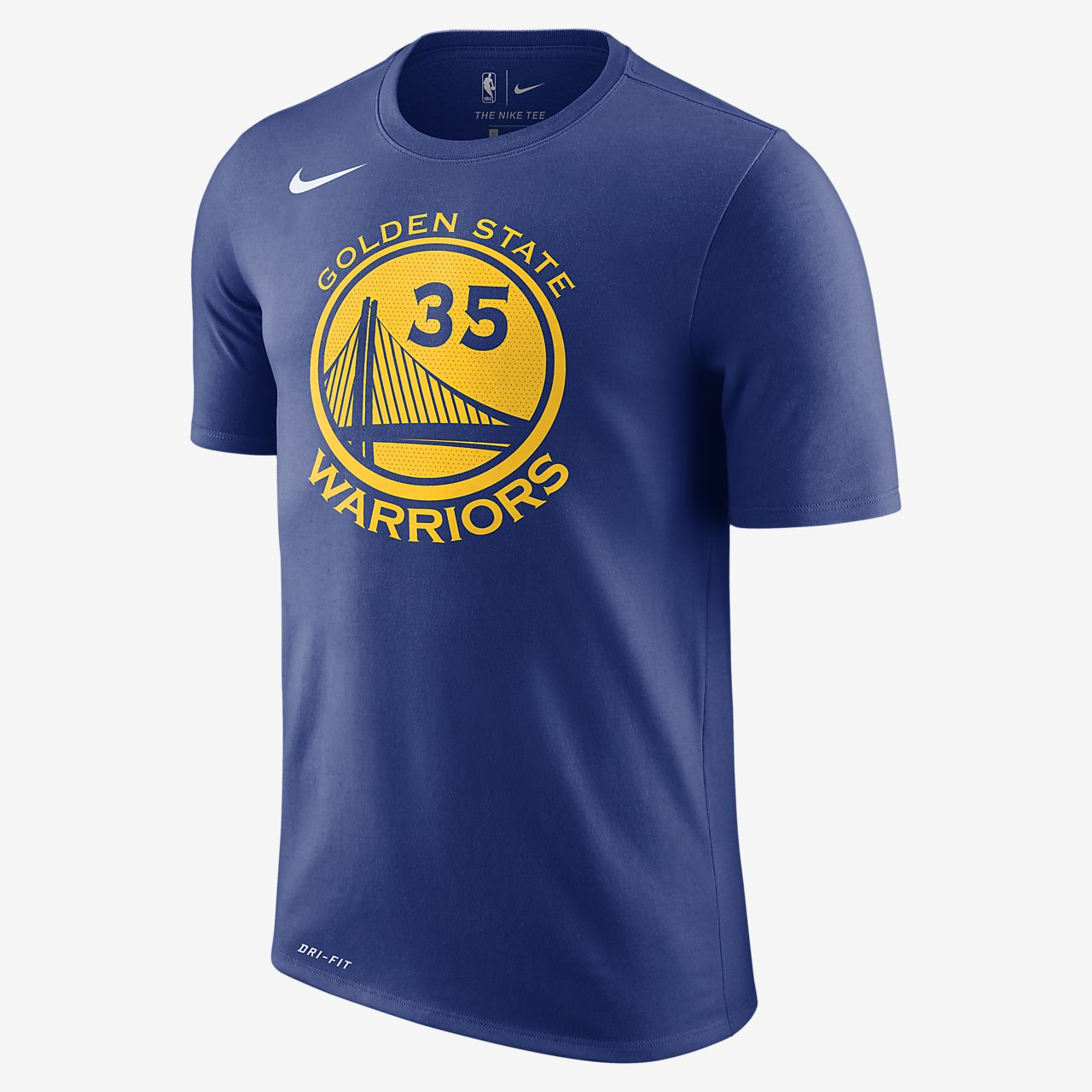 เสื้อยืด NBA ผู้ชาย Kevin Durant Golden State Warriors Nike Dry