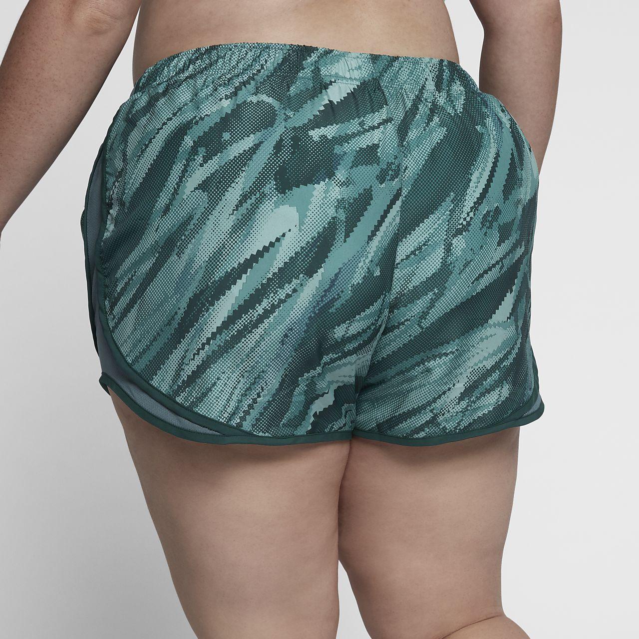 "nike tempo (plus size) women's 3"" printed running shorts. nike"