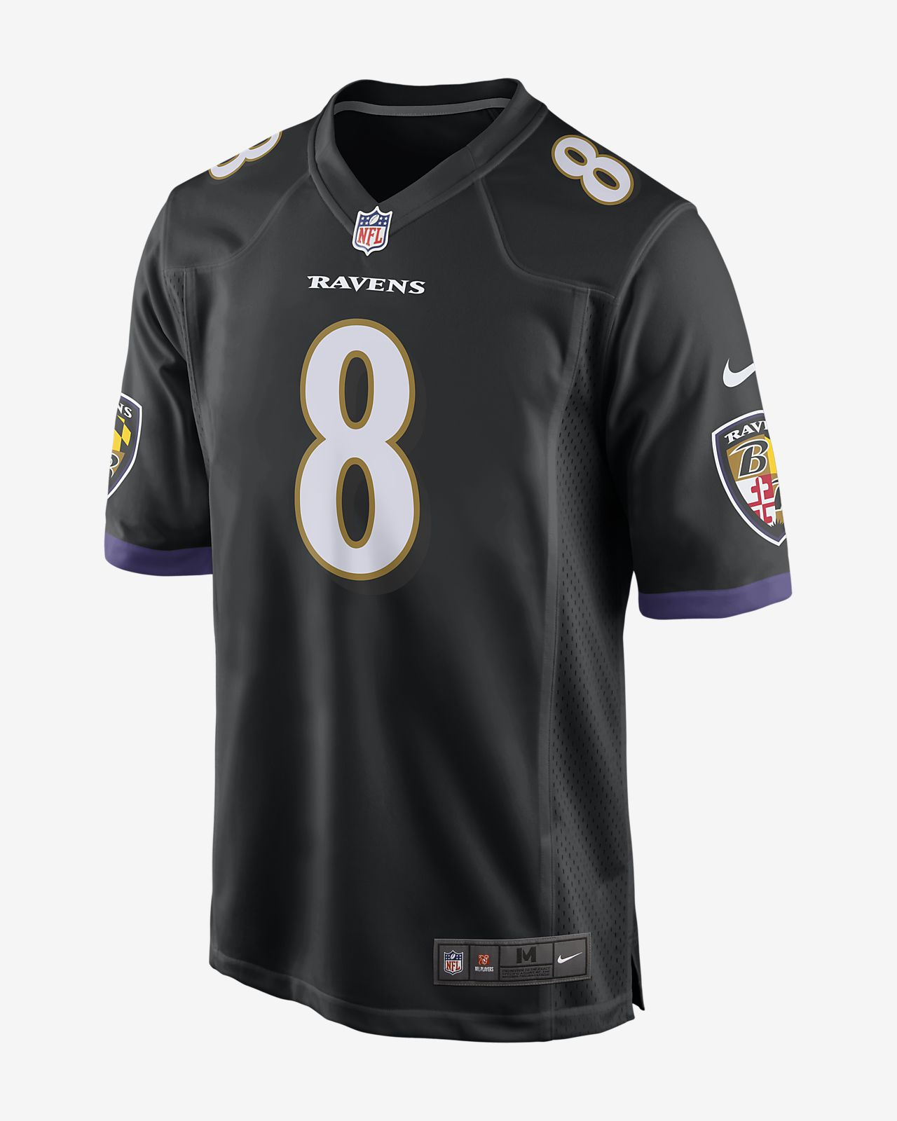 001e0199548 ... NFL Baltimore Ravens (Lamar Jackson) Men's Game Football Jersey
