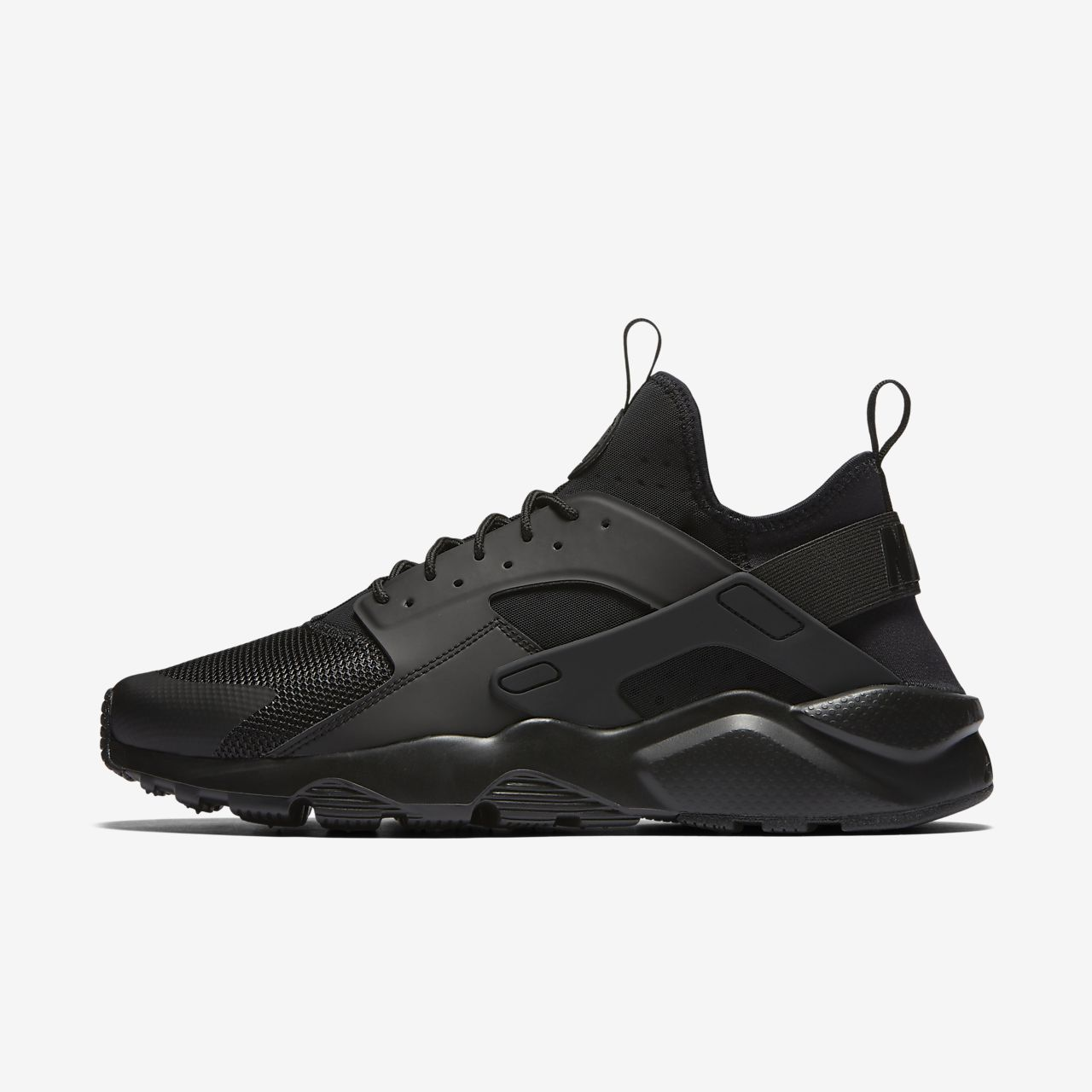 nike air huarache sneakers with leather