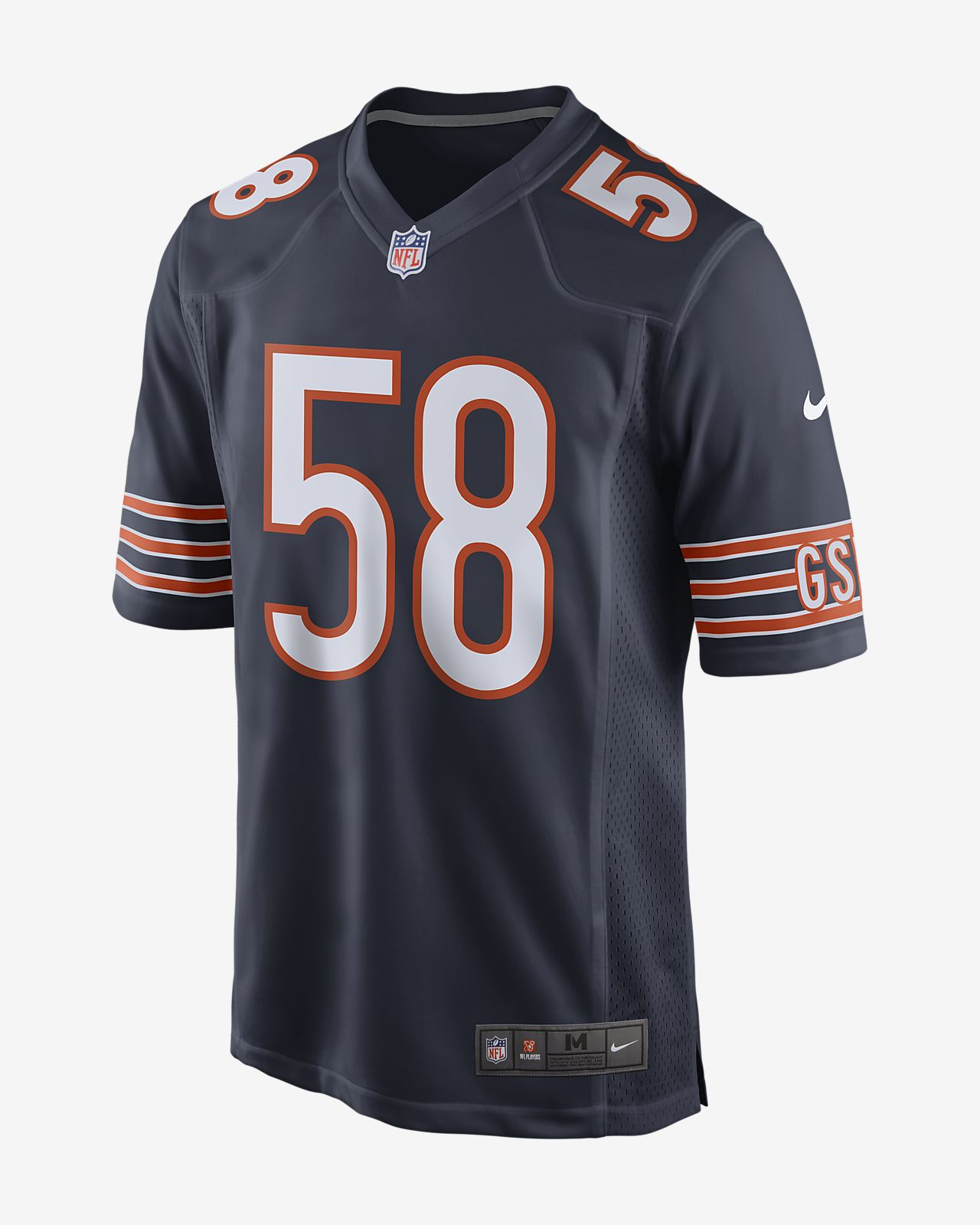 more photos 4df65 9fdf2 NFL Chicago Bears Men's Game Football Jersey