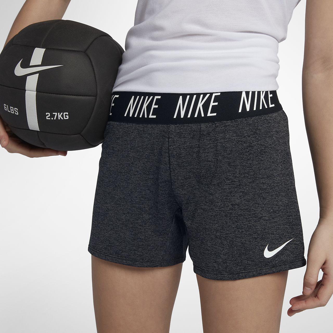 Shorts de entrenamiento para niña talla grande Nike Dri-FIT Trophy