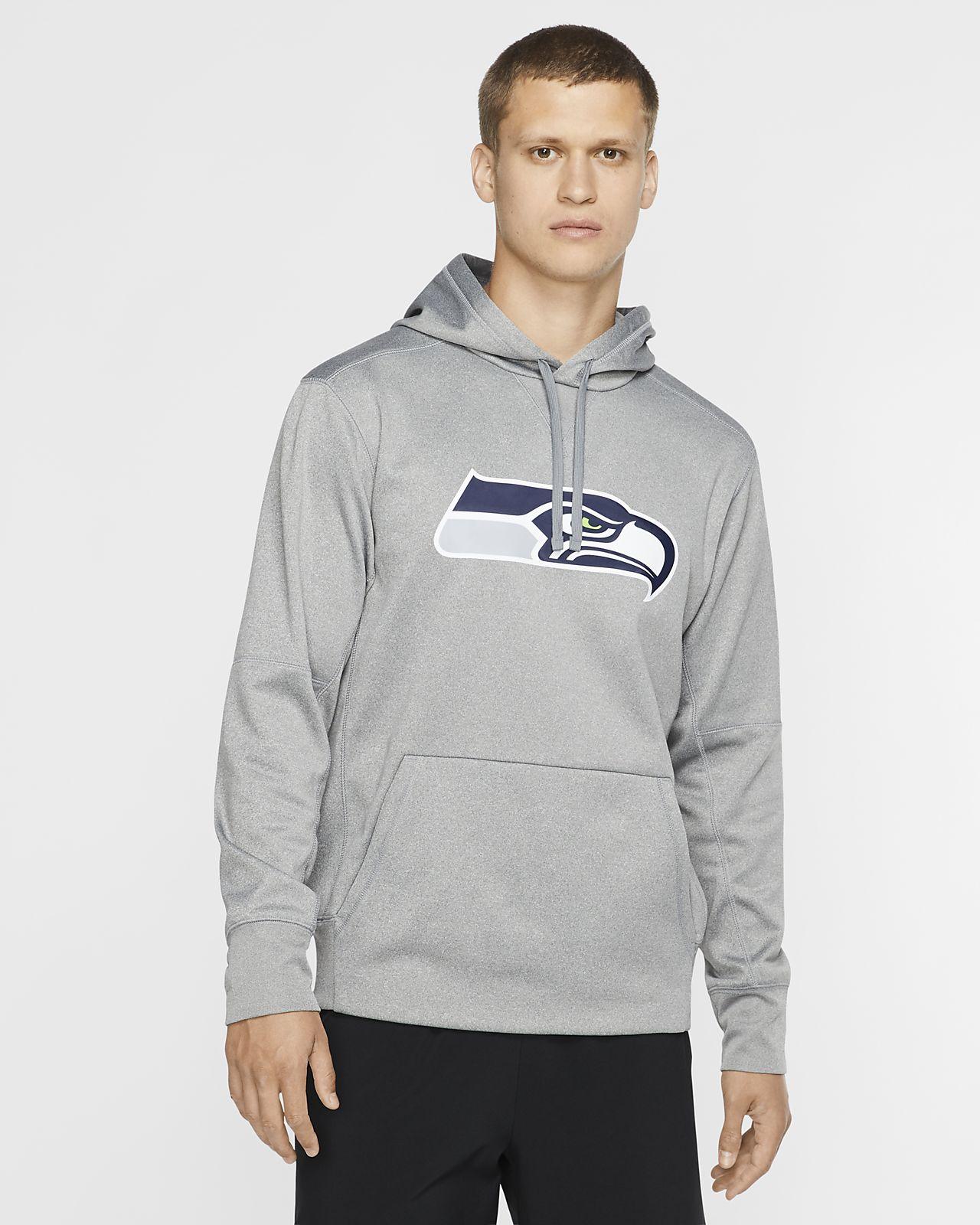 Men's New England Patriots Performance Circuit Logo Essential Hoodie