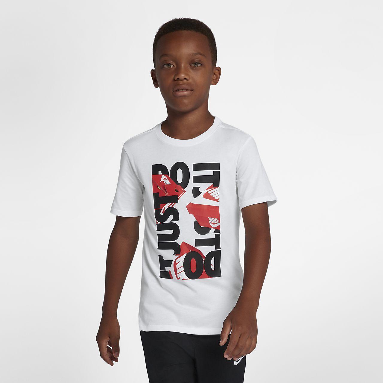 "Playera ""Just do it"" para niño talla grande Nike Sportswear"