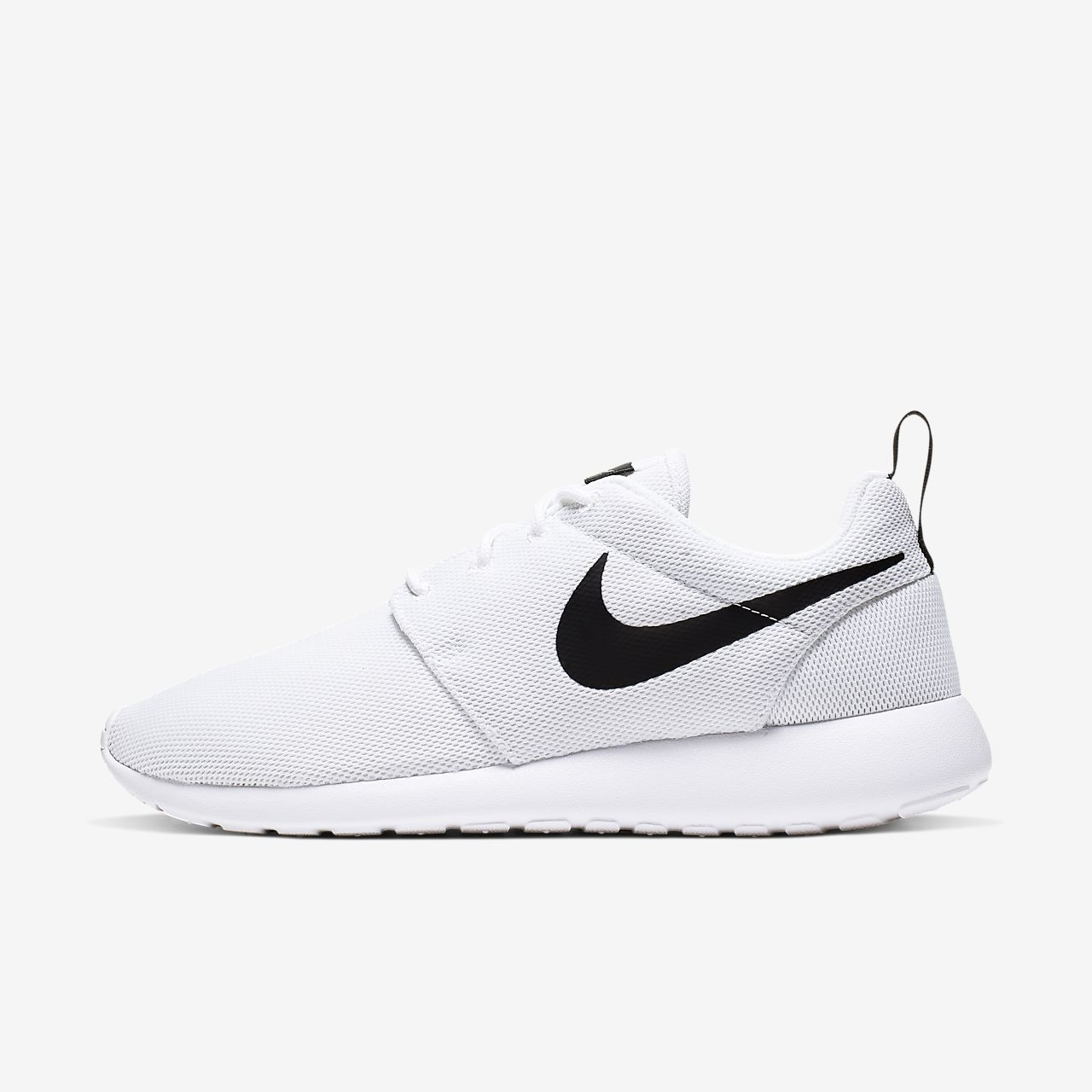 nike roshe women shoes black and white
