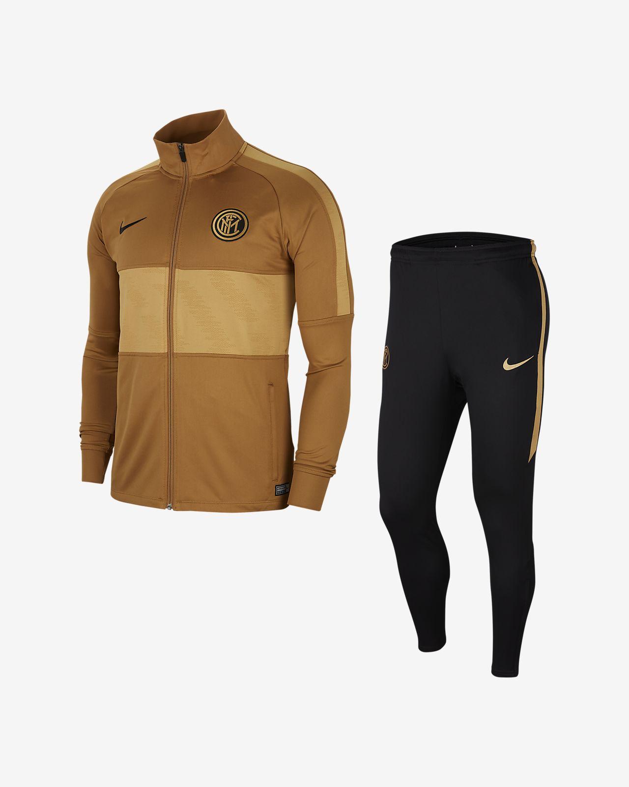 Da Uomo Nike Dry Squadra Di Calcio Tuta Integrale Nero