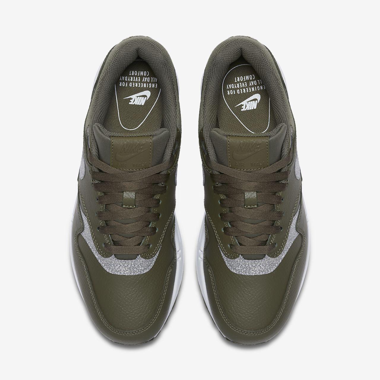 scarpa nike air max 1 se glitter medium olivebianconero