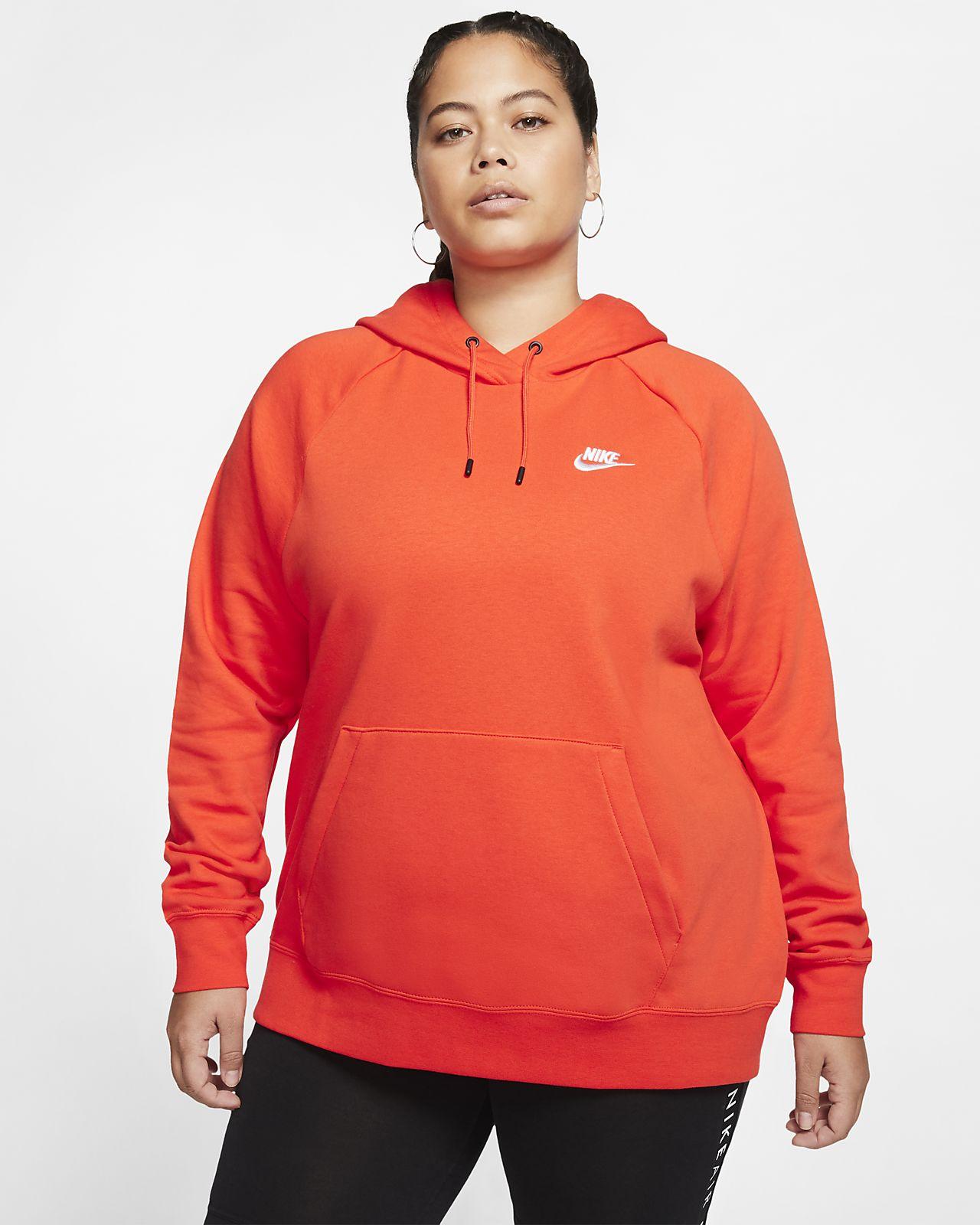 nike pullover orange damen