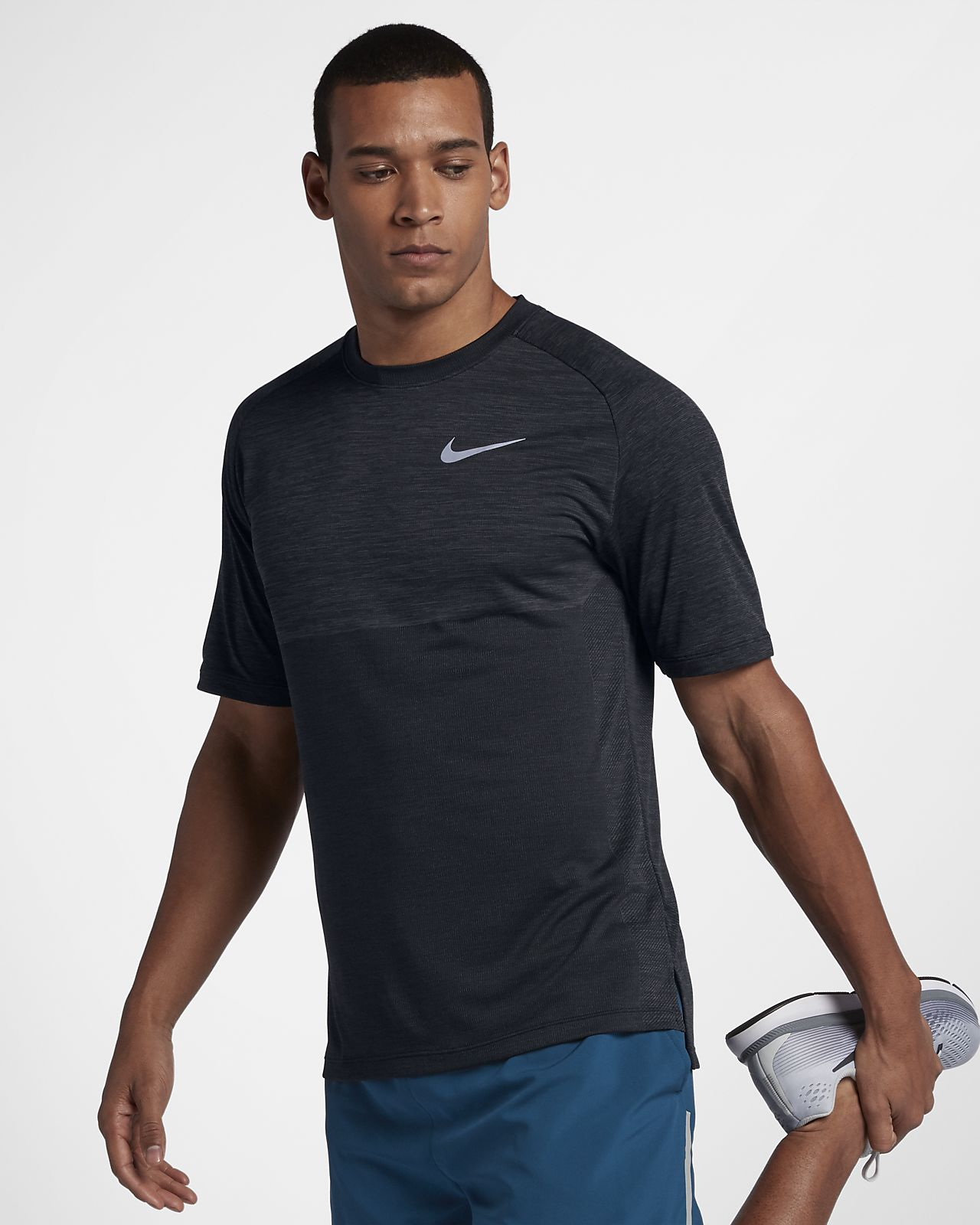 Nike Dri Fit Medalist Mens Short Sleeve Running Top Nike