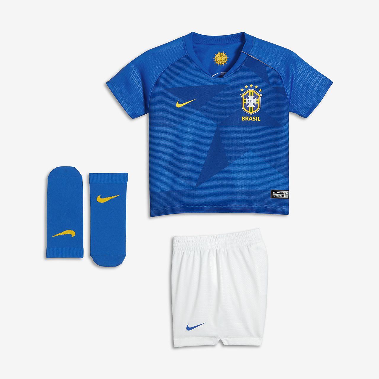 2018 Brasilien CBF Stadium Away Fußballtrikot-Set für Kleinkinder
