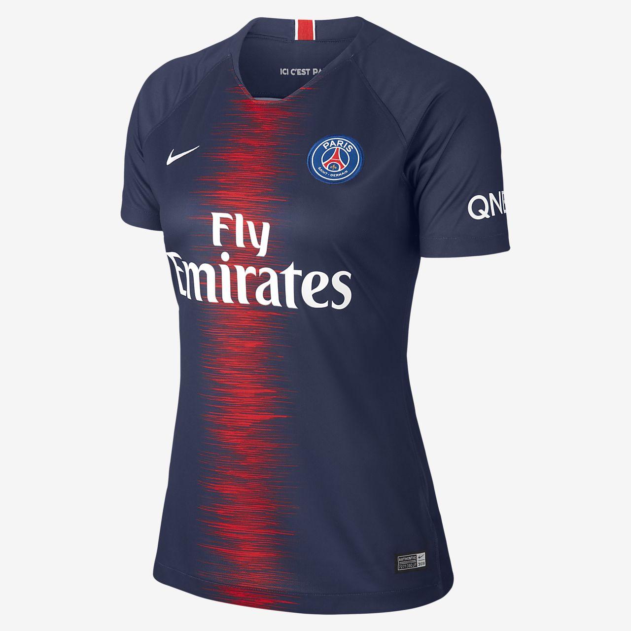 4ac716b77aa 2018 19 Paris Saint-Germain Stadium Home Women s Football Shirt ...