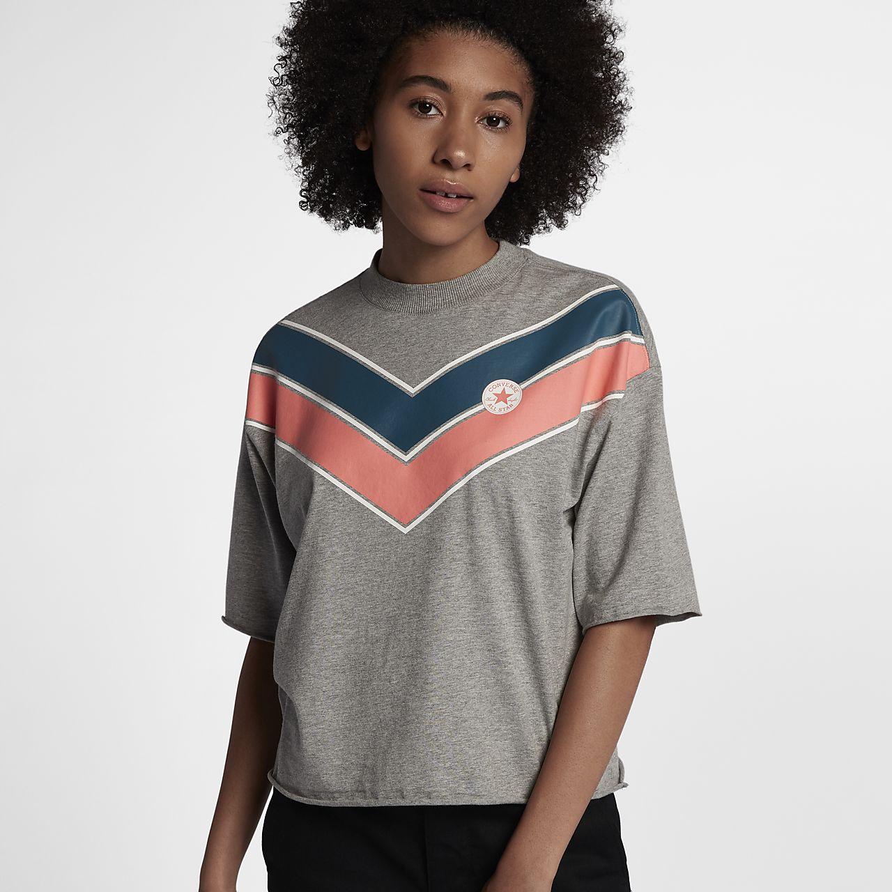 Converse Chevron Mock Neck Women 39 S T Shirt