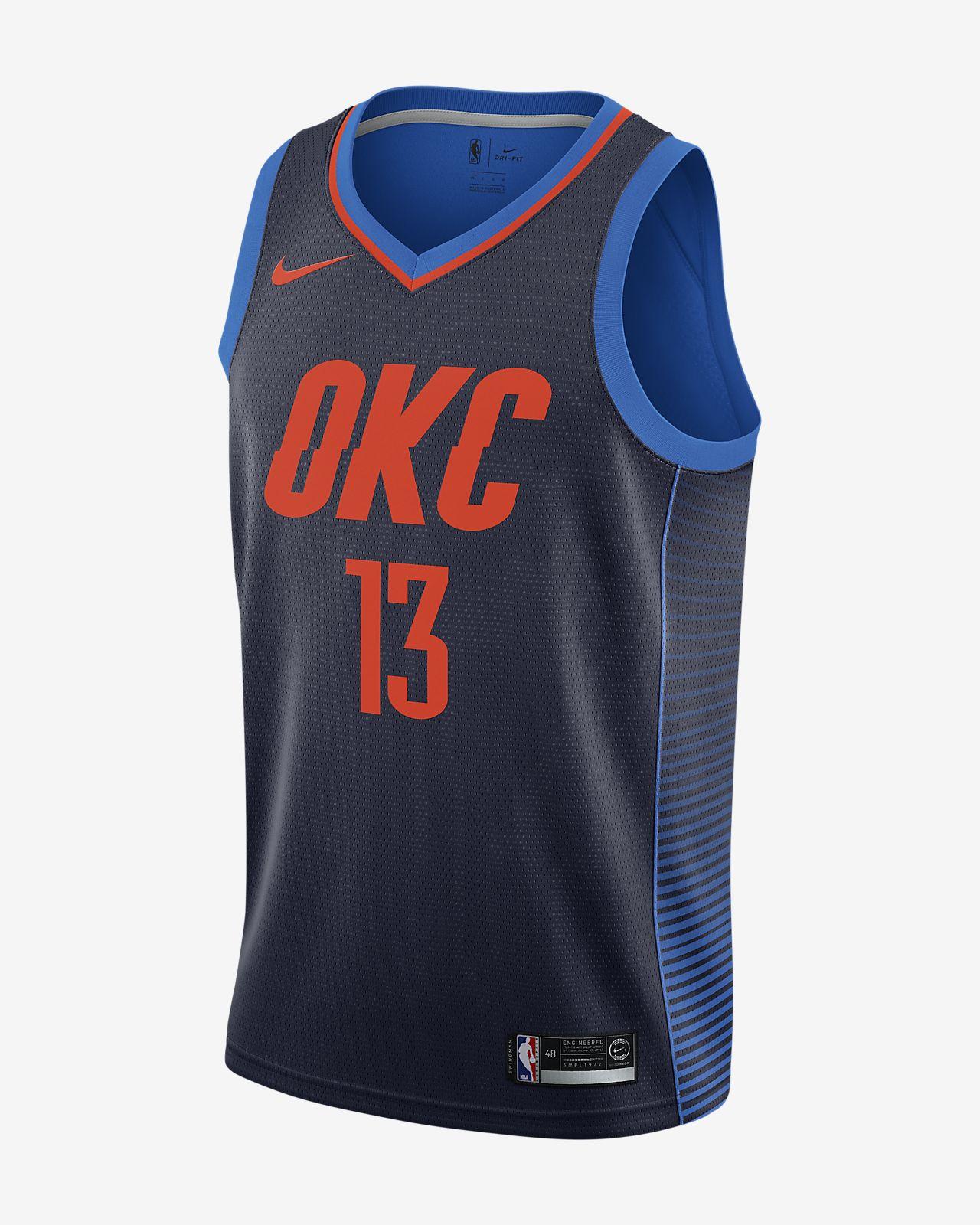 Paul George Statement Edition Swingman (Oklahoma City Thunder) Nike NBA Connected Trikot für Herren