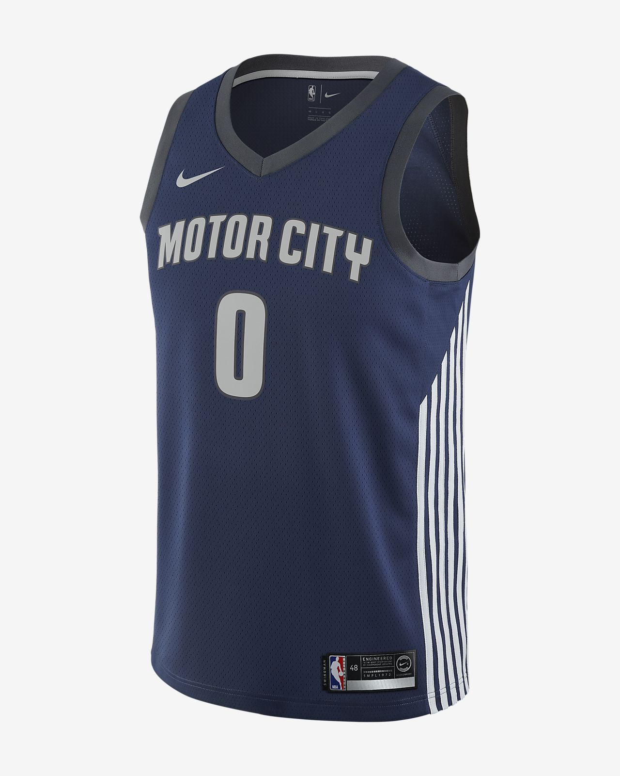 25792a384be Andre Drummond City Edition Swingman Jersey (Detroit Pistons) Men s ...