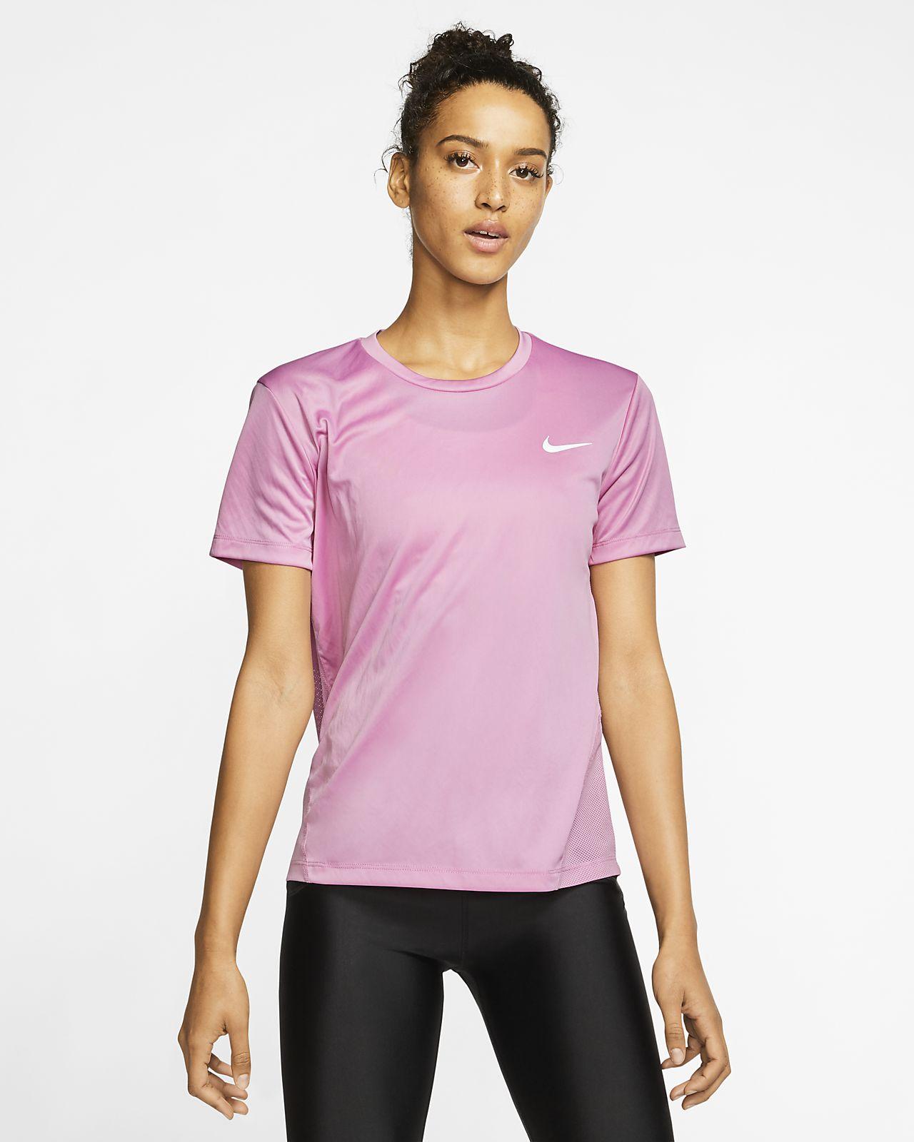 Top da running a manica corta Nike Miler Donna