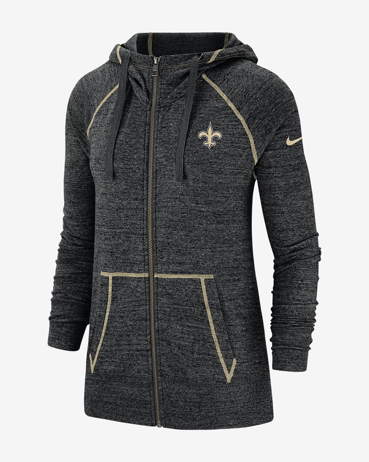 Nike Gym Vintage (NFL Saints) Women's Full-Zip Hoodie