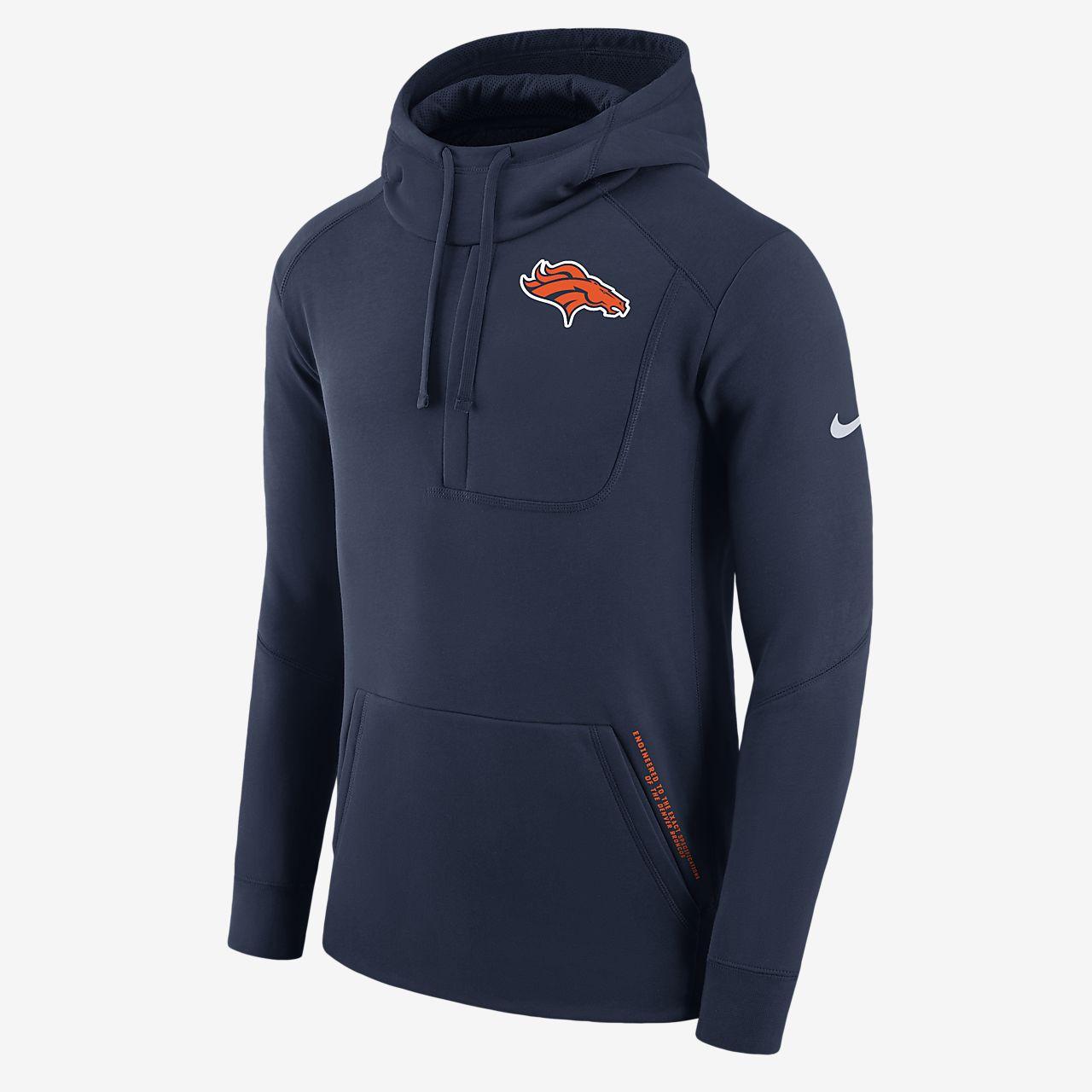 Sweat à capuche Nike Fly Fleece (NFL Broncos) pour Homme