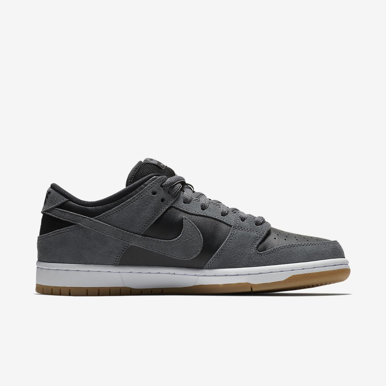 Nike SB Dunk Low Pro Men's Skateboarding Shoes Black/White/Grey xT3520V