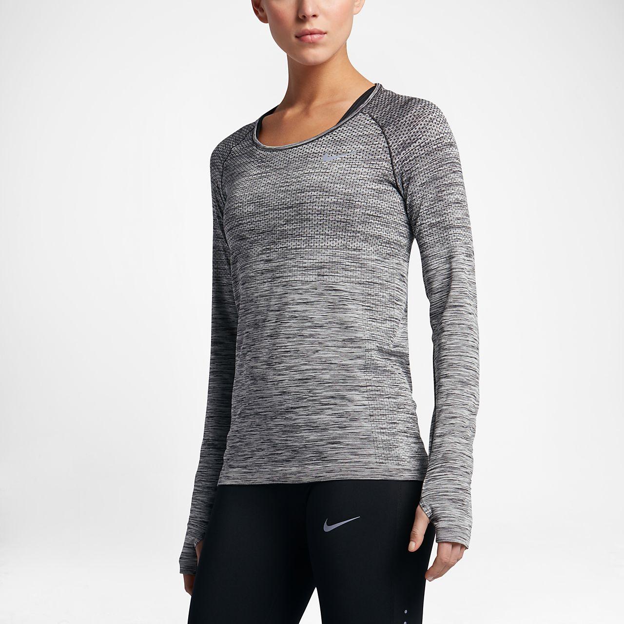 ... Nike Dri-FIT Knit Women's Long Sleeve Running Top