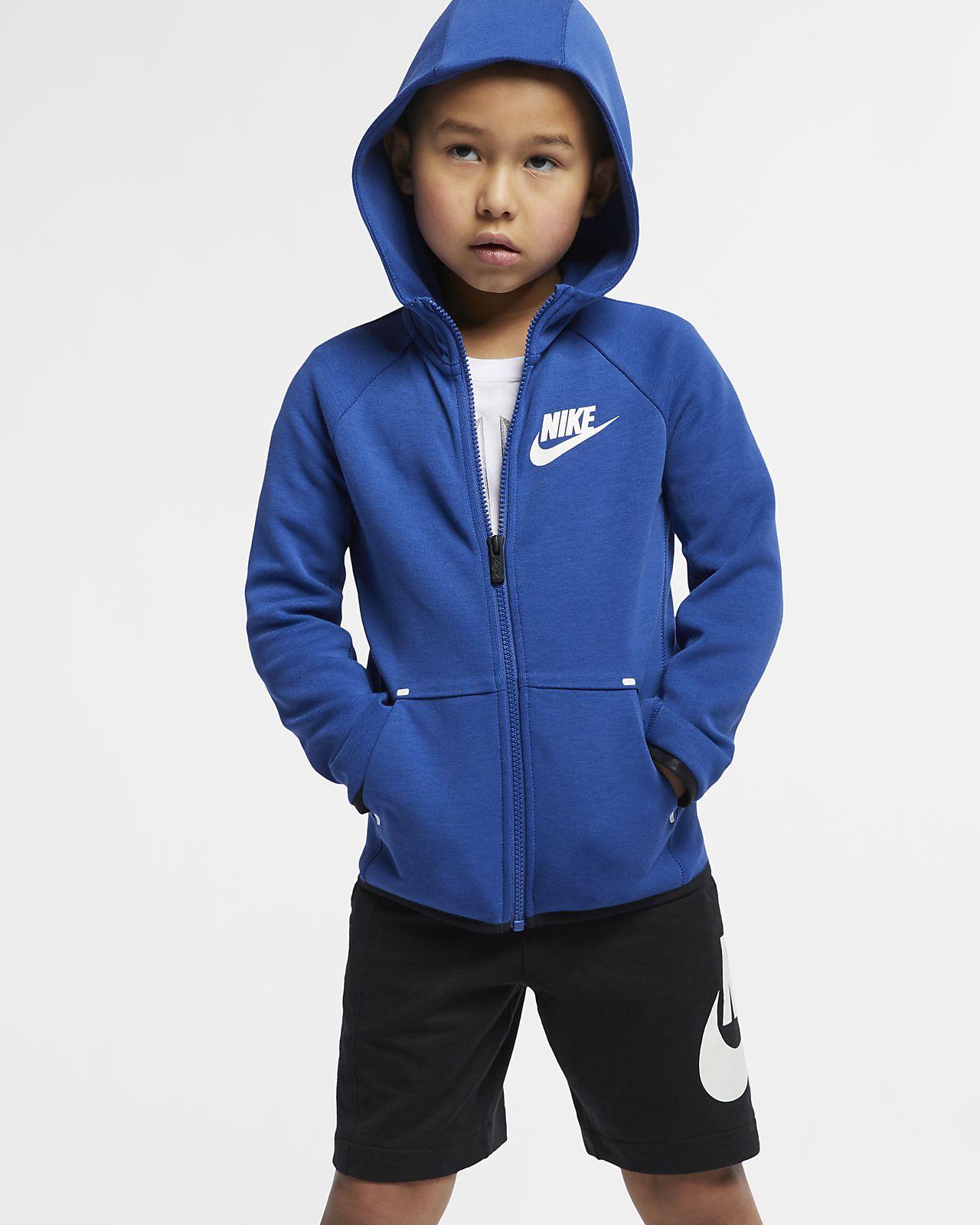 Nike Sportswear Tech Fleece-hættetrøje til små børn