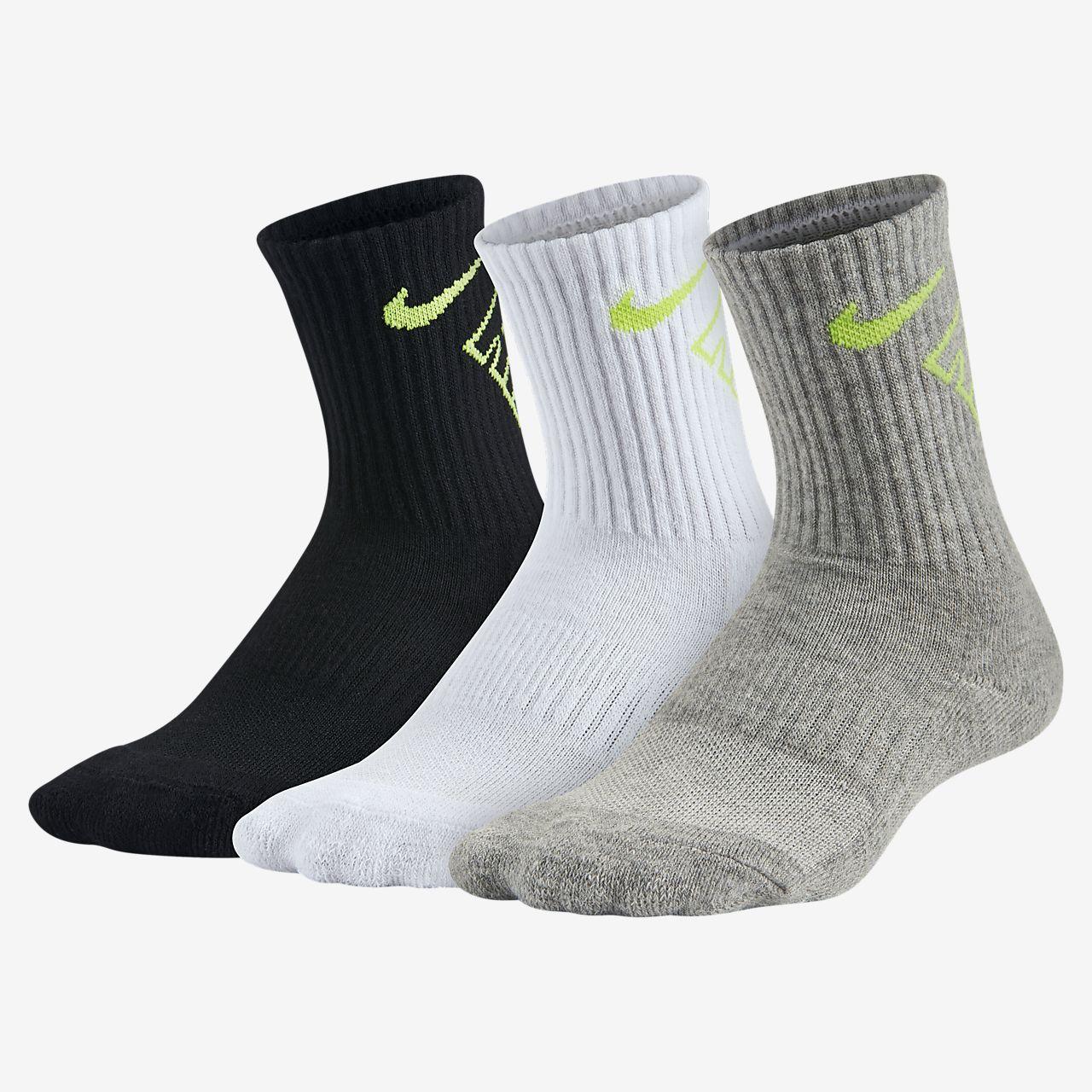 Nike Swoosh Crew Little Kids' Socks (3 Pair)
