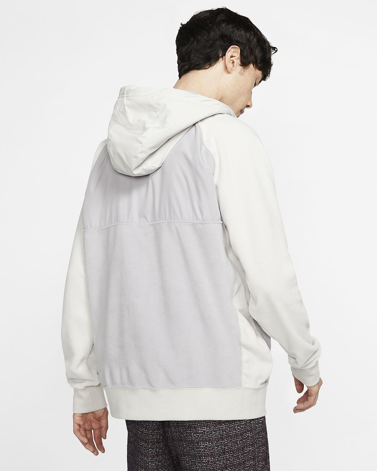 Nike Sportswear Grey Full Zip Men's Fleece Hoodie