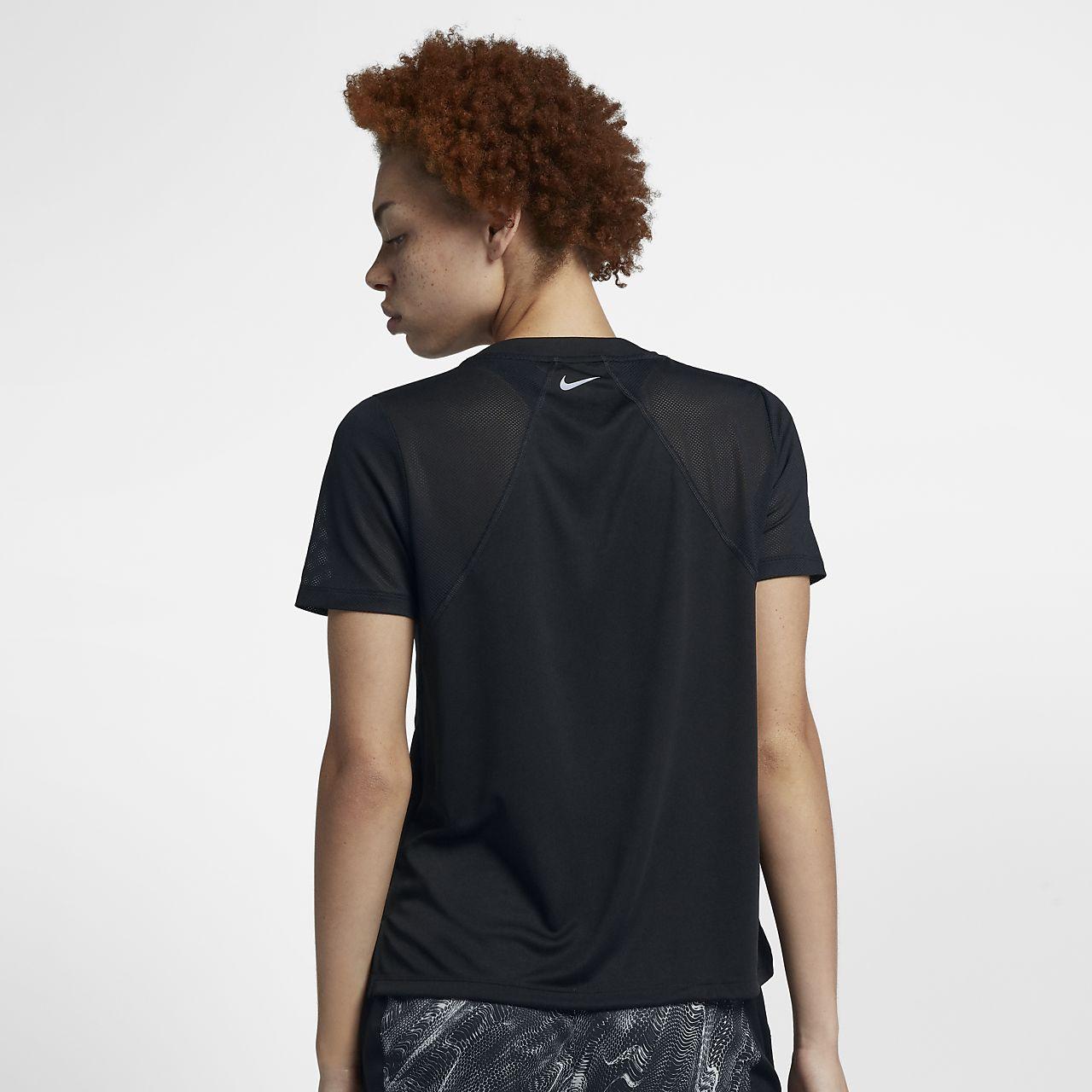 size 40 147cd 10c8a ... Nike Dri-FIT Miler Women s Short-Sleeve Running Top