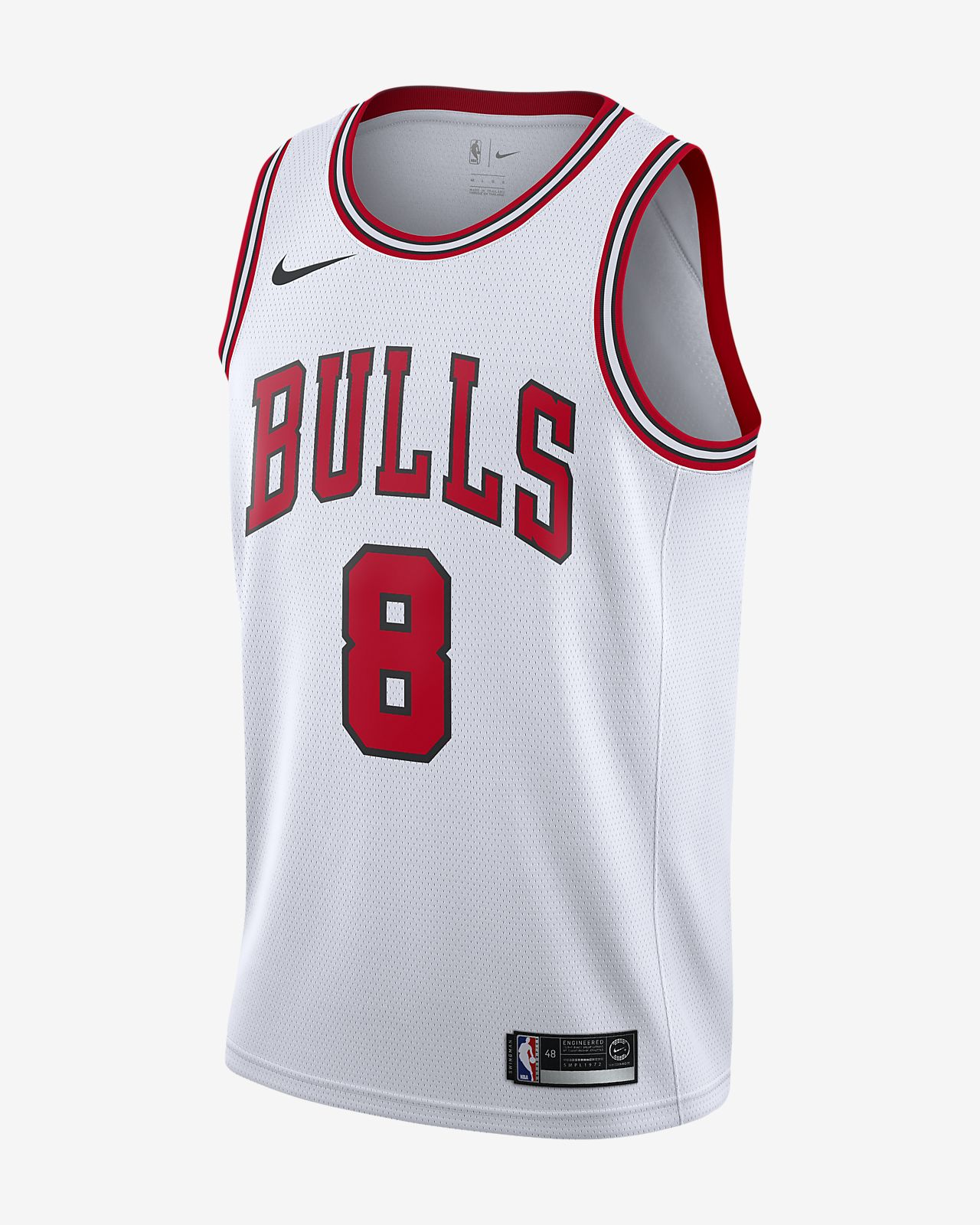 Maillot connecté Nike NBA Zach LaVine Association Edition Swingman (Chicago Bulls) pour Homme