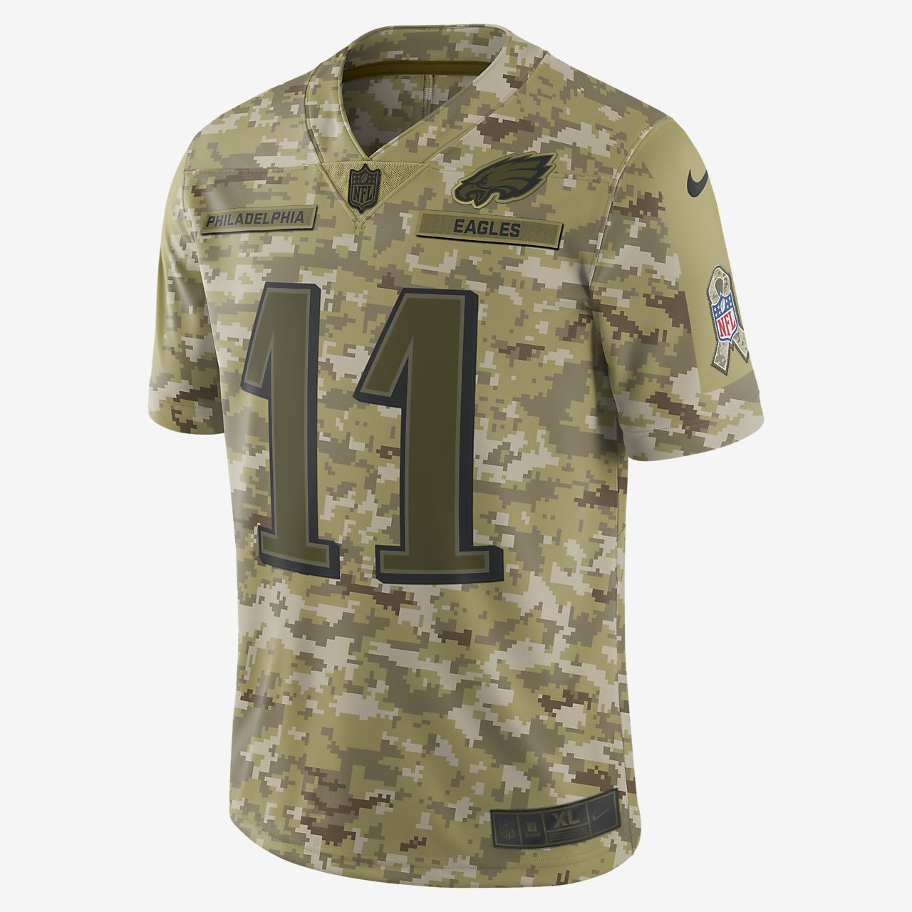 NFL Philadelphia Eagles Salute to Service (Carson Wentz) Big Kids' Football Jersey