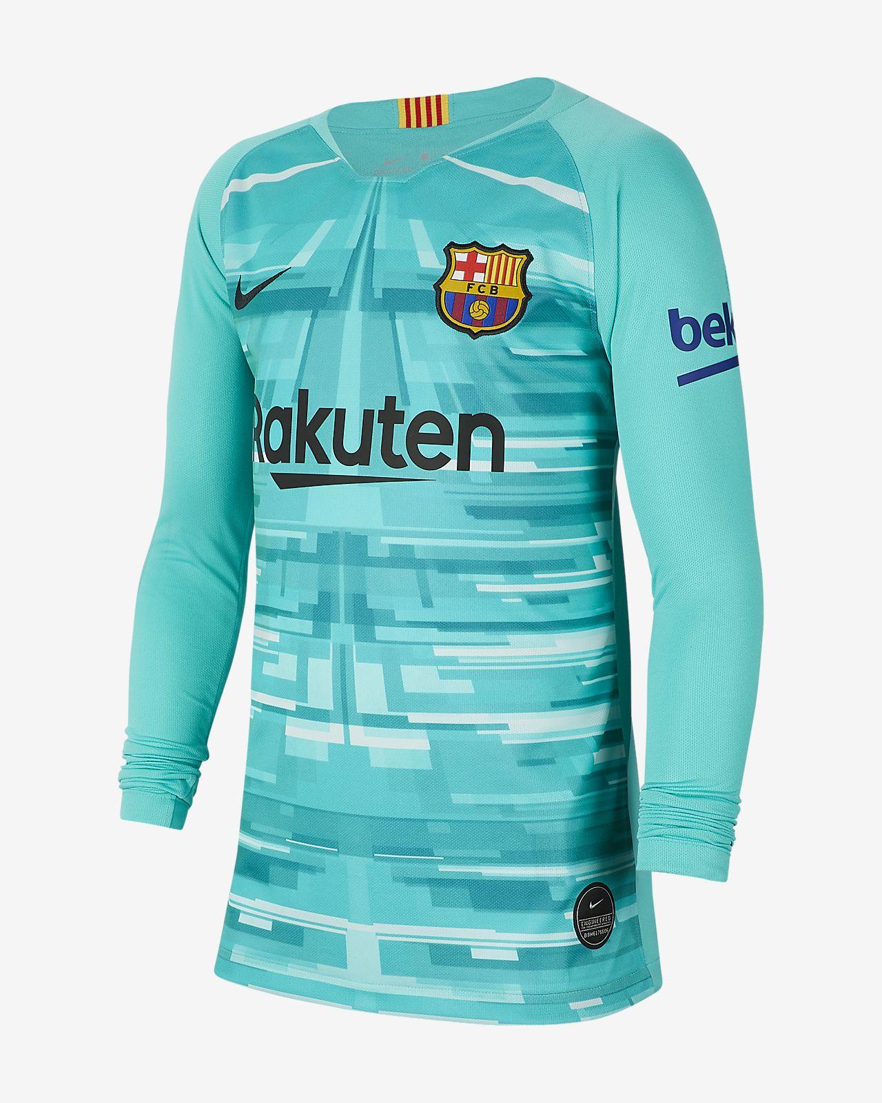 FC Barcelona 2019/20 Stadium Goalkeeper Older Kids' Football Shirt